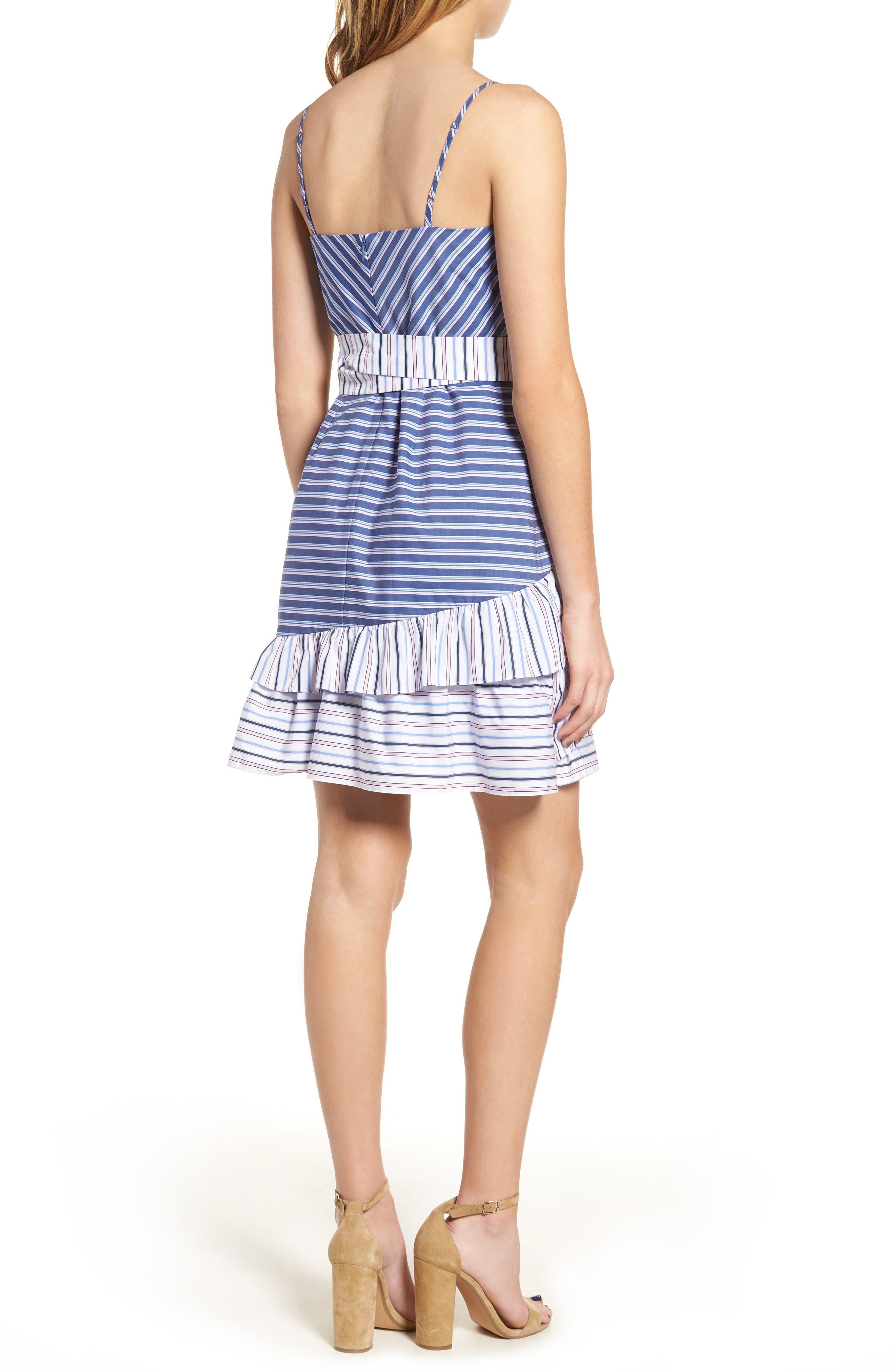 Brooklyn Ruffle Dress,                             Alternate thumbnail 2, color,                             400