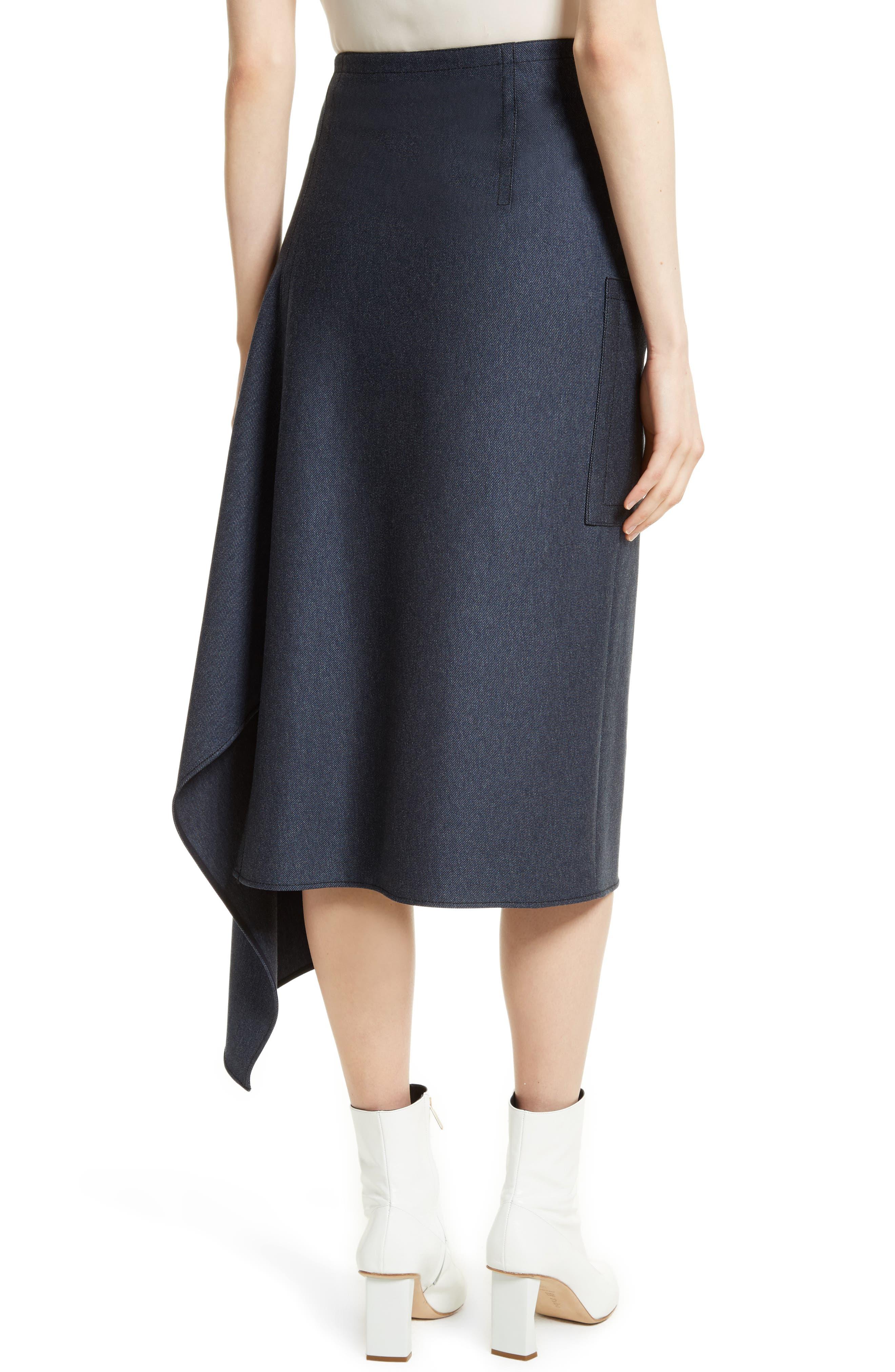 Origami Asymmetrical Twill Skirt,                             Alternate thumbnail 2, color,                             402