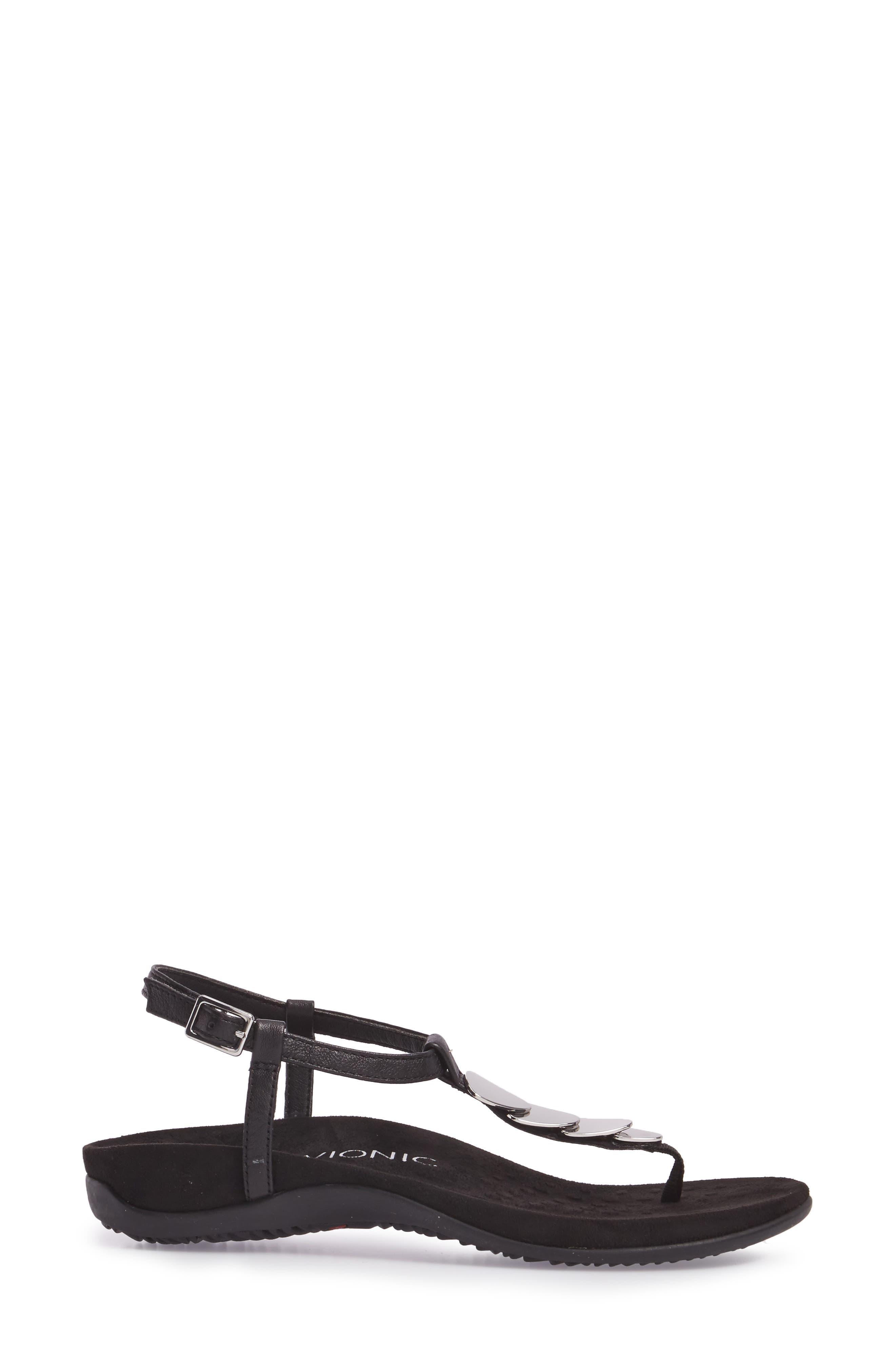 Miami T-Strap Sandal,                             Alternate thumbnail 3, color,                             001