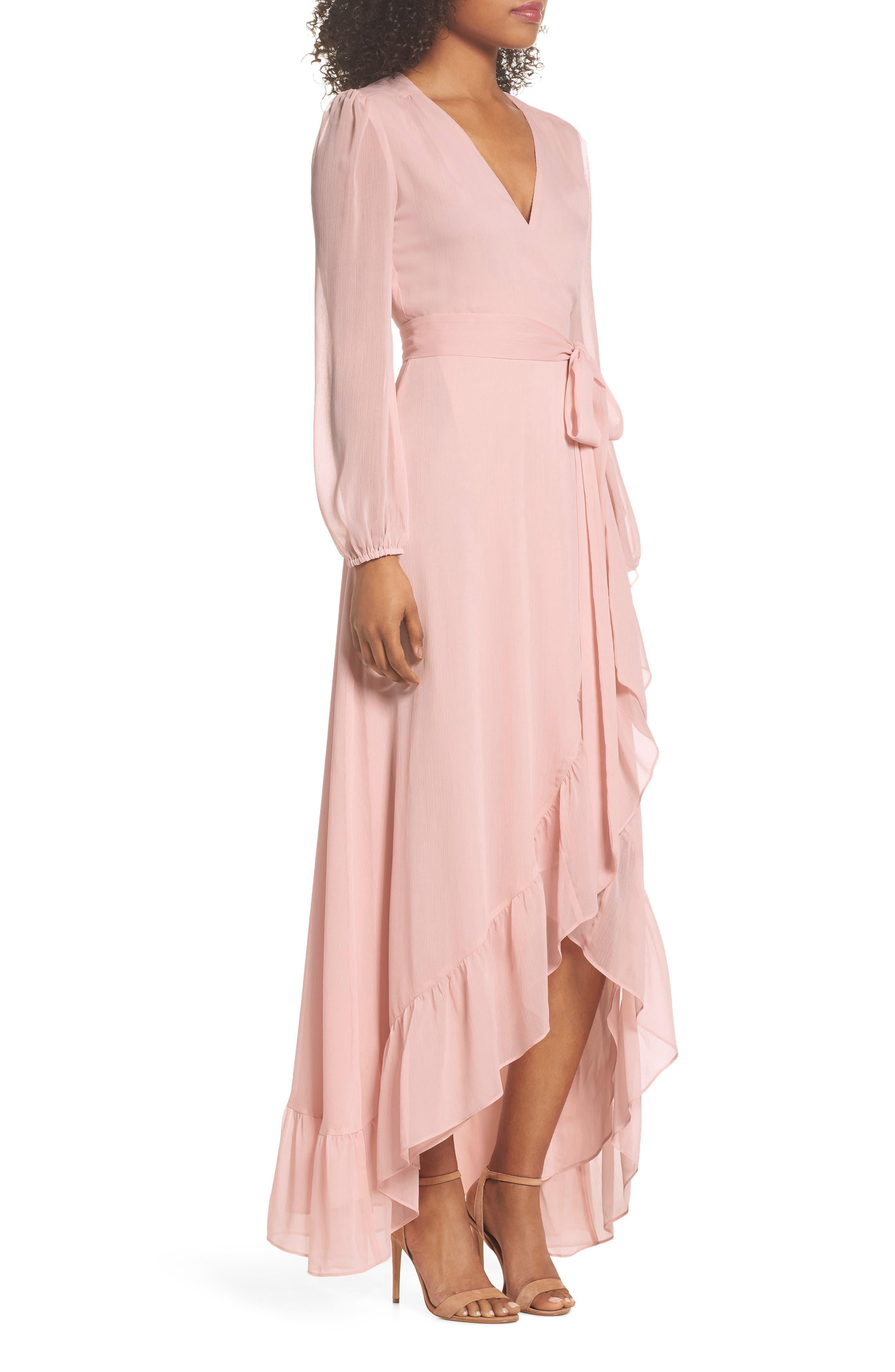Meryl Long Sleeve Wrap Maxi Dress,                             Alternate thumbnail 3, color,                             650