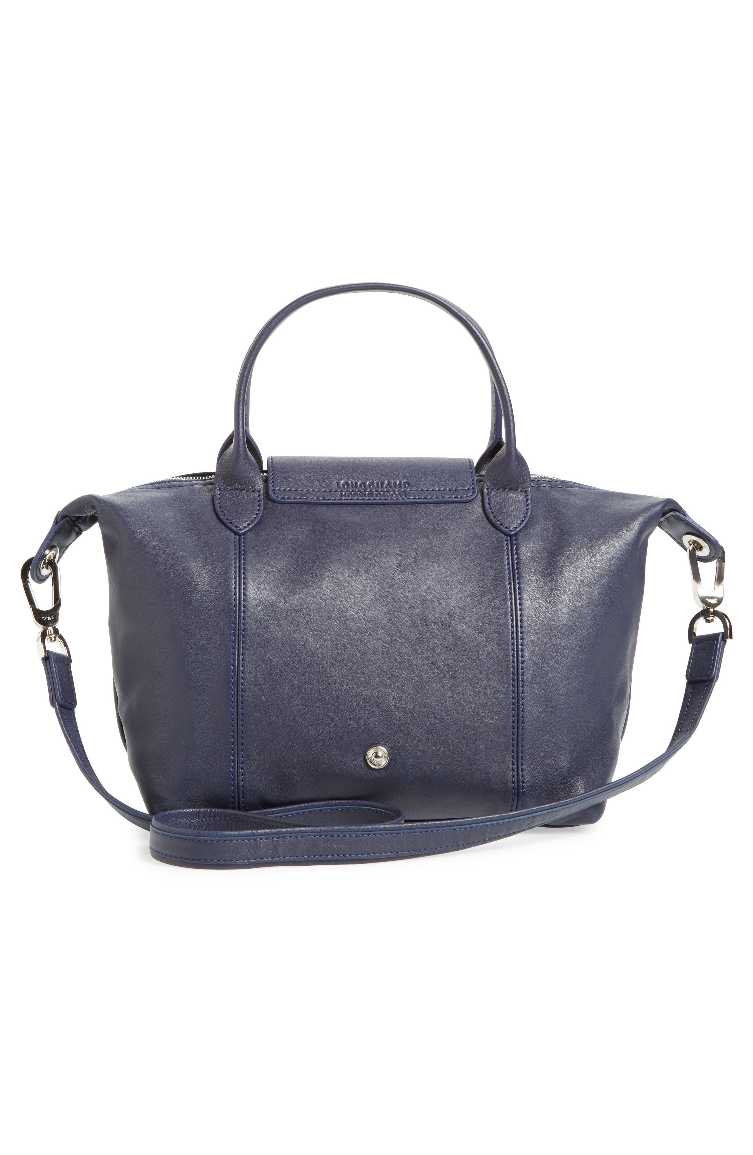 Small 'Le Pliage Cuir' Leather Top Handle Tote,                             Alternate thumbnail 51, color,