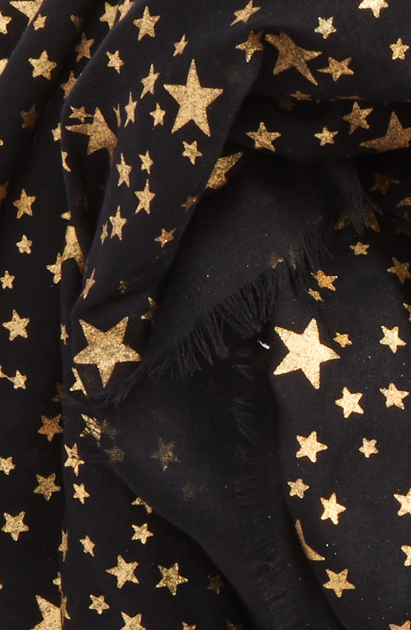 Star Silk & Modal Scarf,                             Alternate thumbnail 4, color,