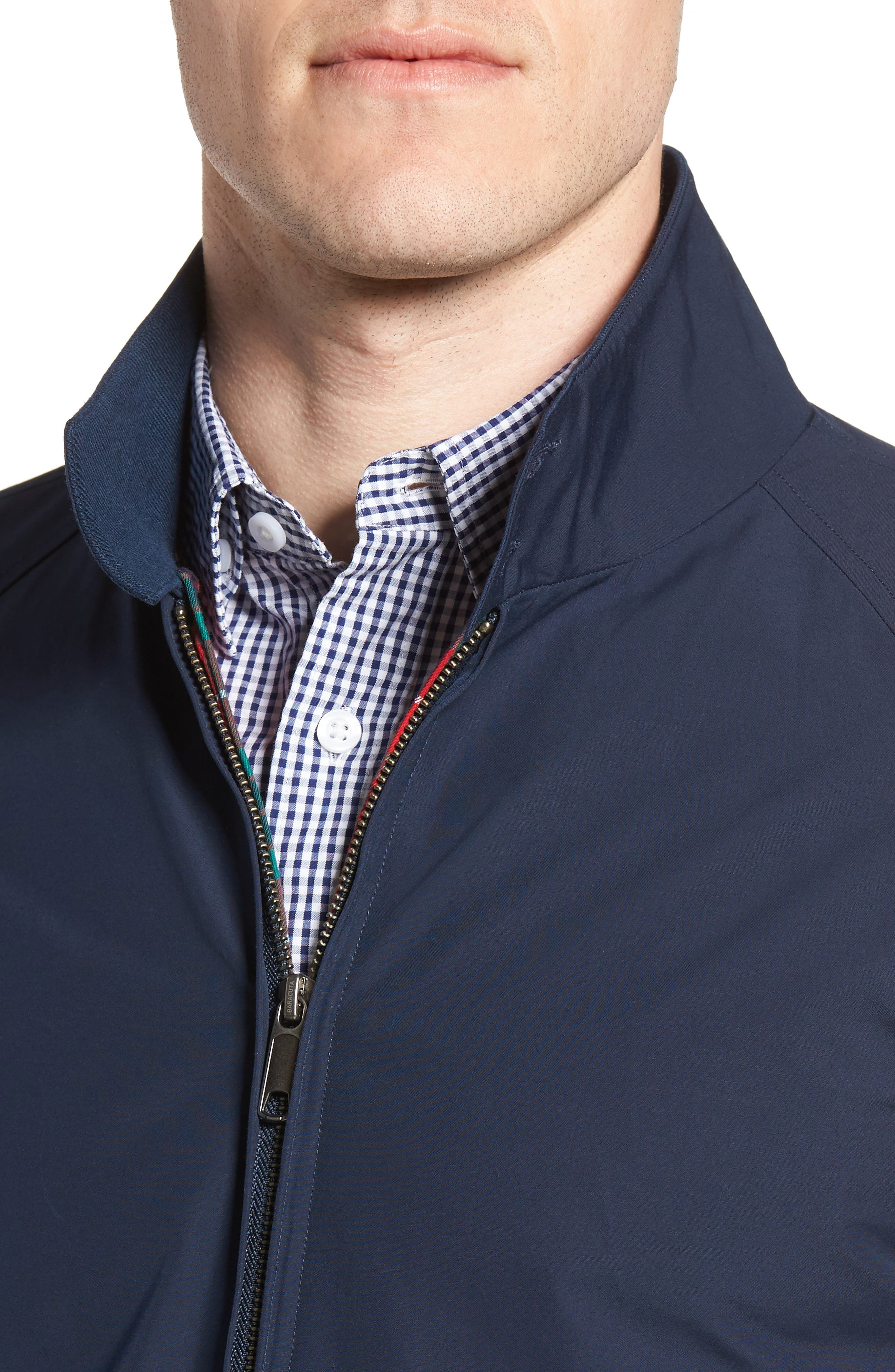 G4 Water Repellent Harrington Jacket,                             Alternate thumbnail 4, color,                             NAVY