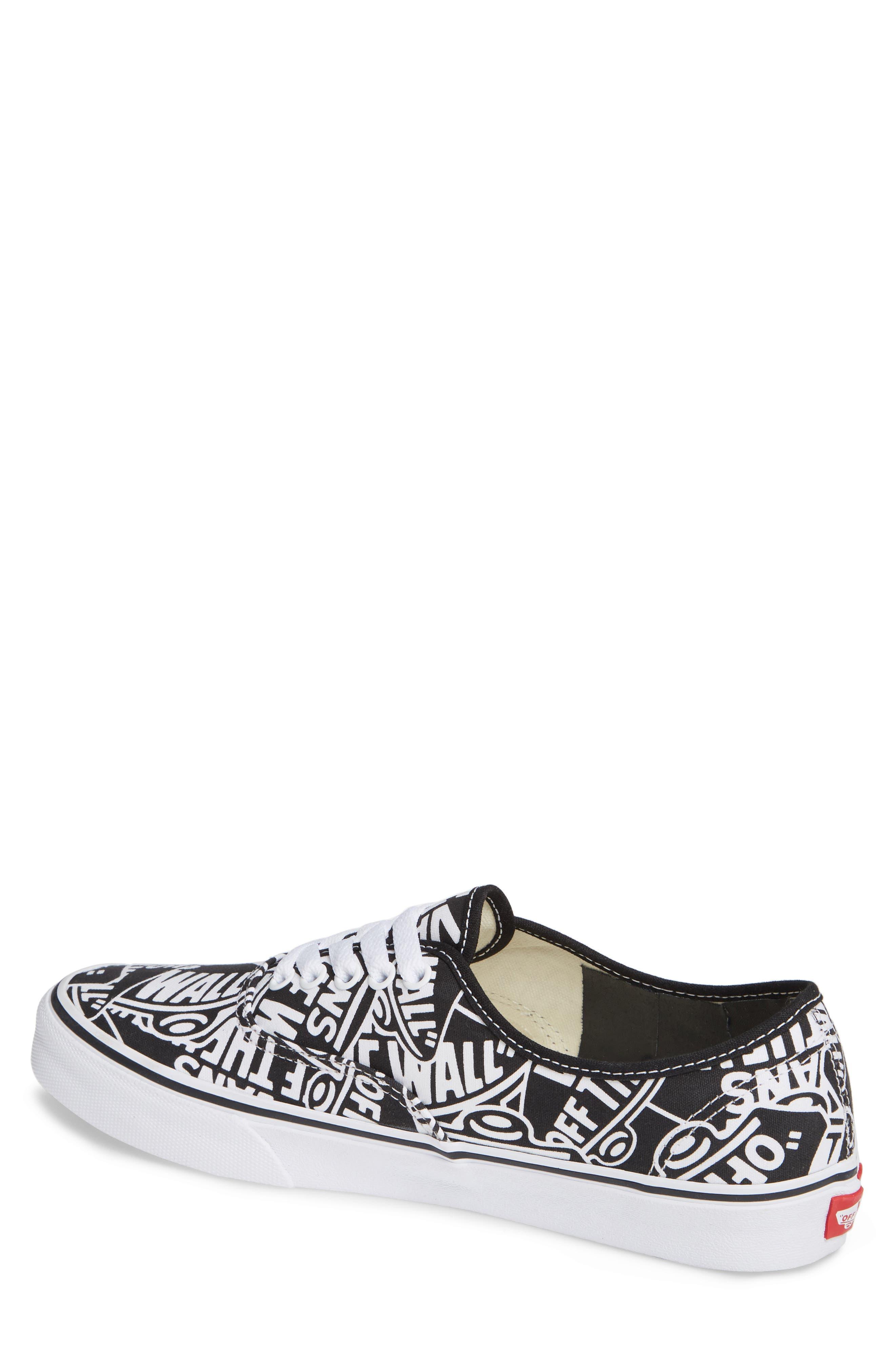 Authentic Sneaker,                             Alternate thumbnail 2, color,                             BLACK/ WHITE