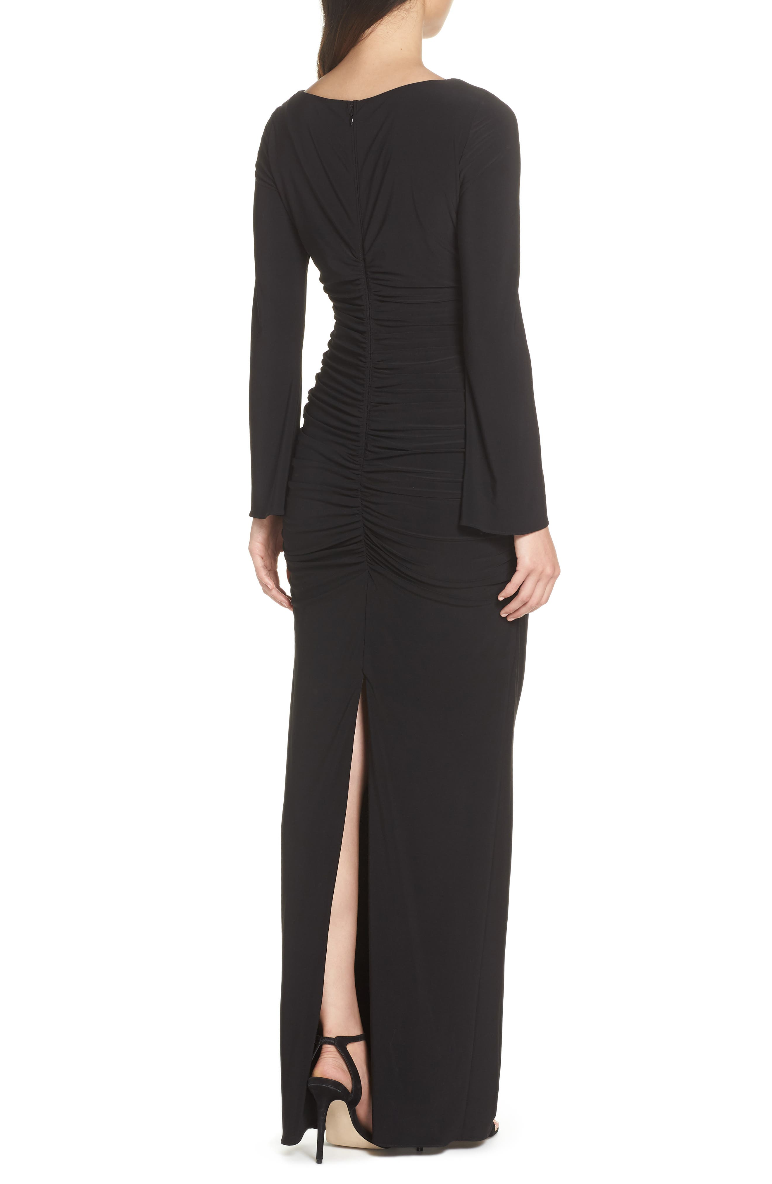 Jersey Gown,                             Alternate thumbnail 2, color,                             BLACK
