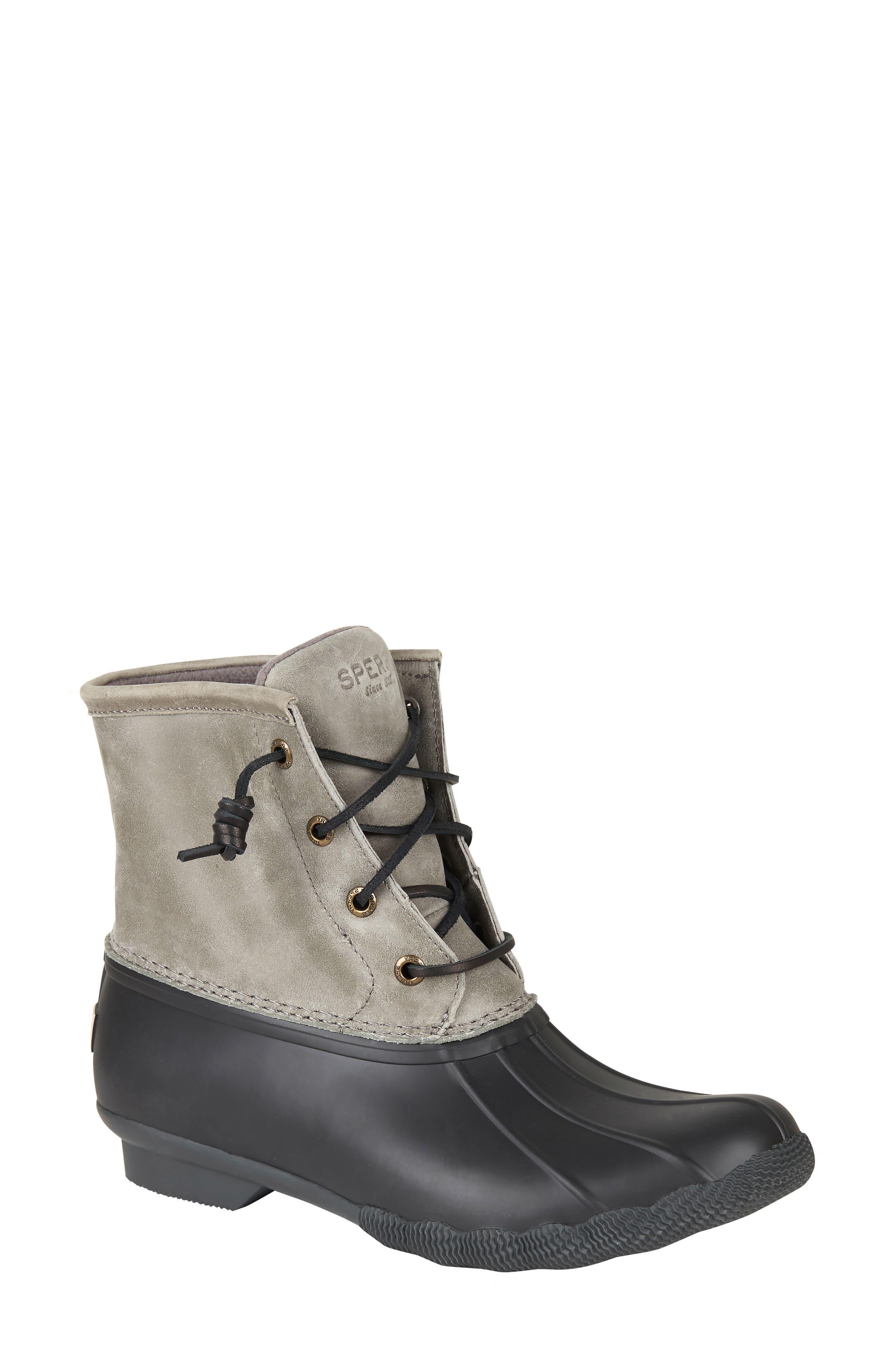 Sperry Saltwater Waterproof Rain Boot, Black