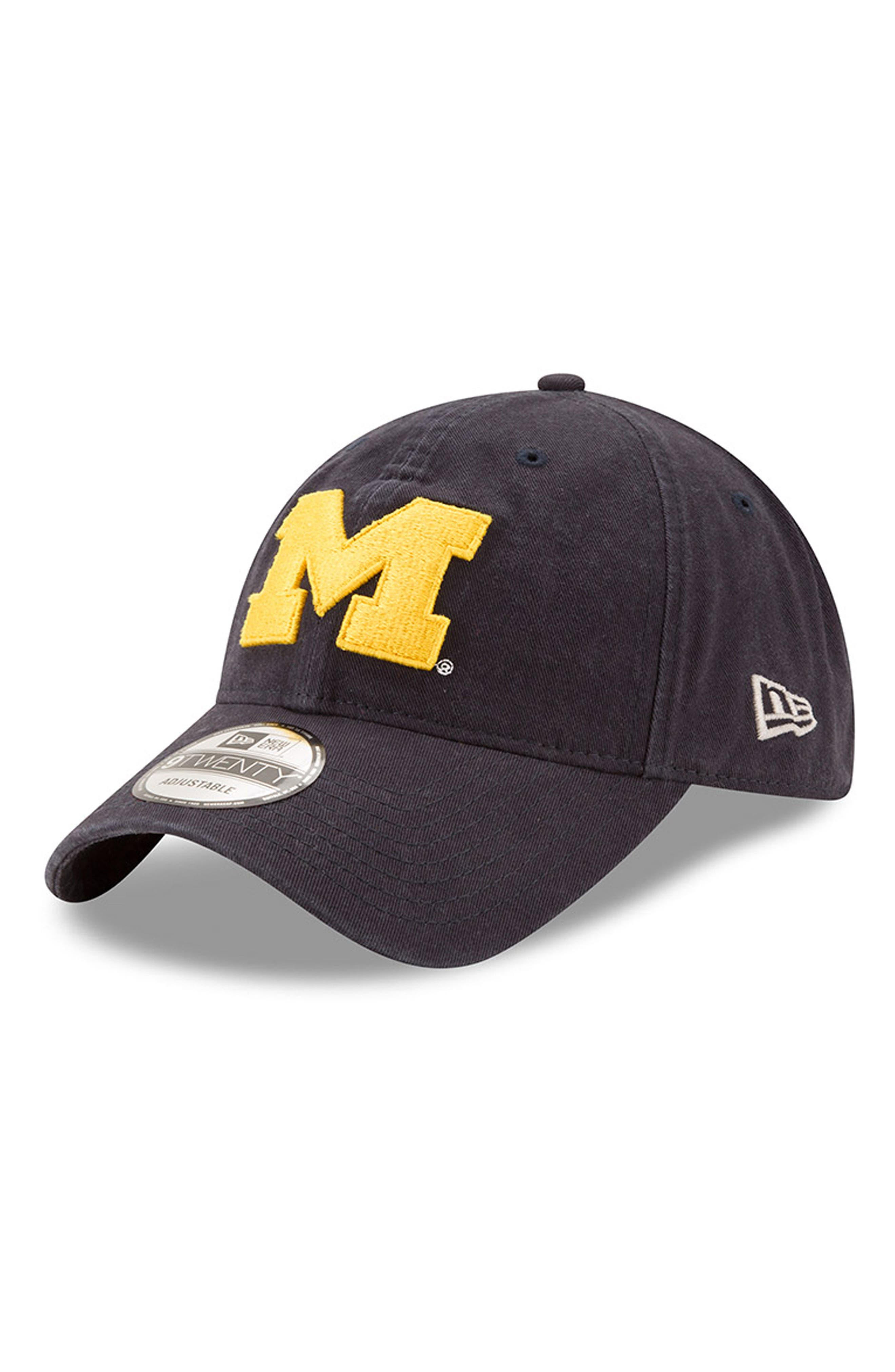 New Era Collegiate Core Classic - Michigan Wolverines Baseball Cap,                             Main thumbnail 1, color,                             410