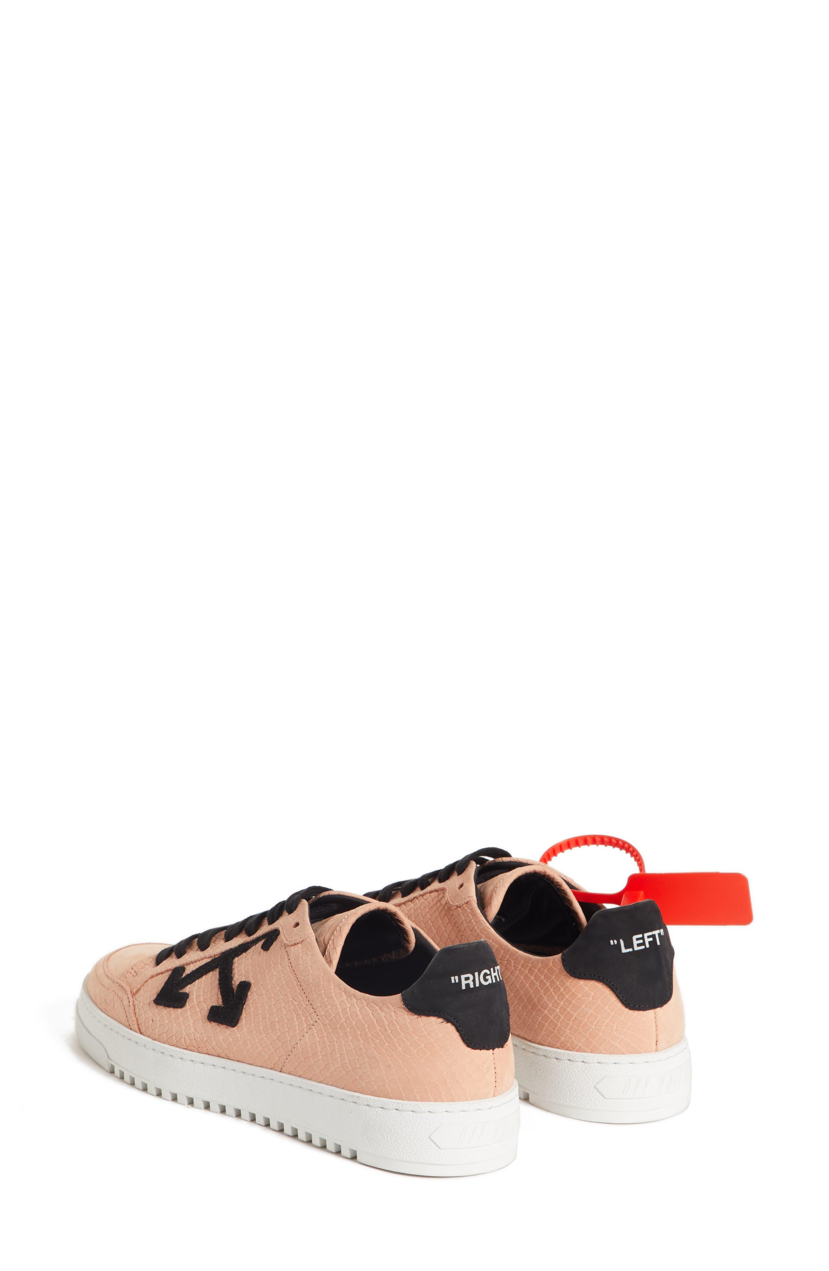 Arrow Sneaker,                             Alternate thumbnail 2, color,                             SALMON BLACK