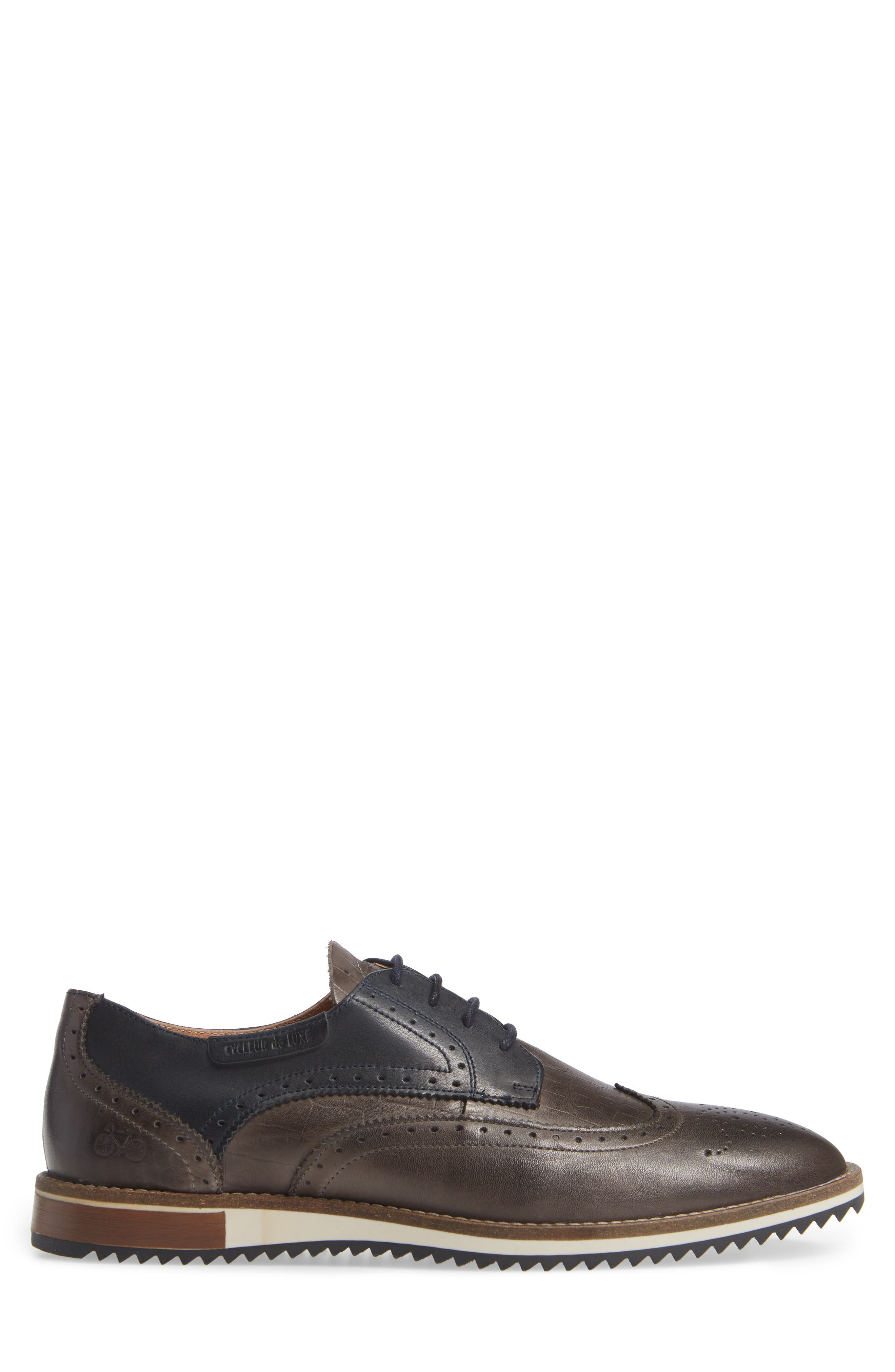 Pulsano Textured Wingtip,                             Alternate thumbnail 3, color,                             ANTHRACITE