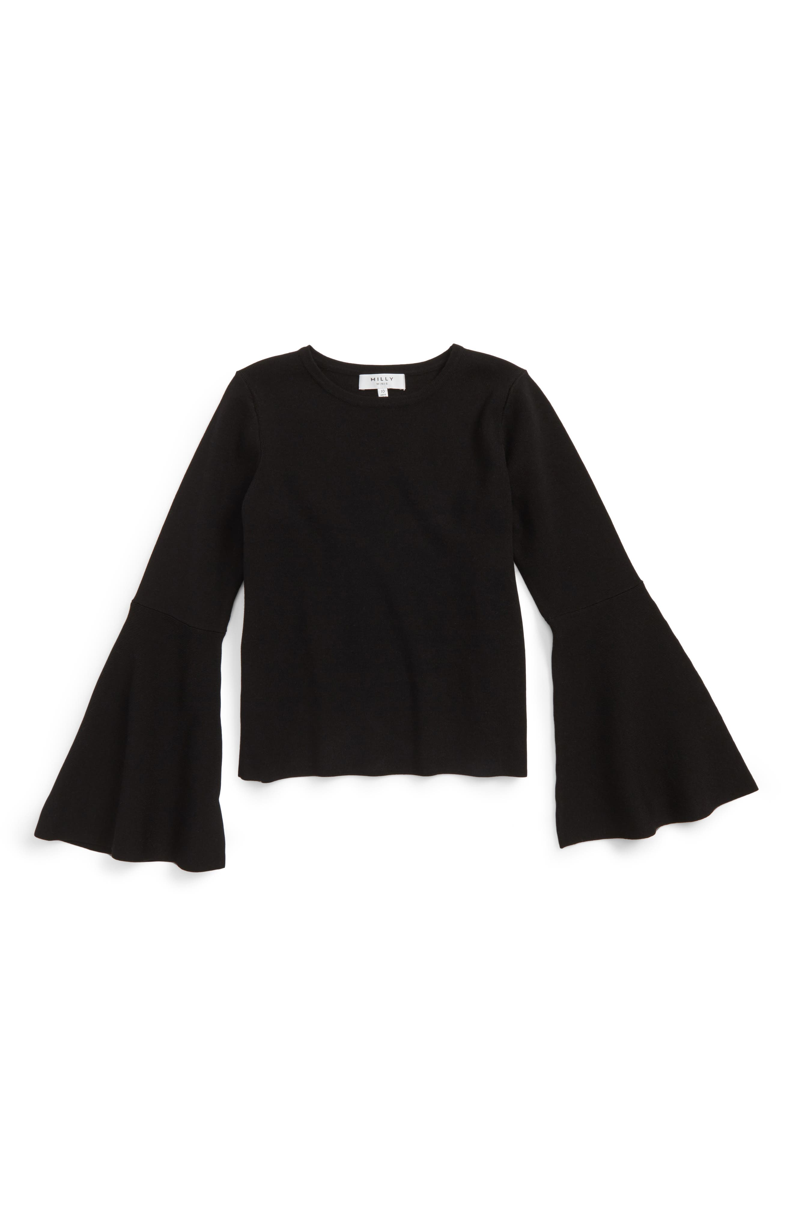 Bell Sleeve Top,                         Main,                         color, 001