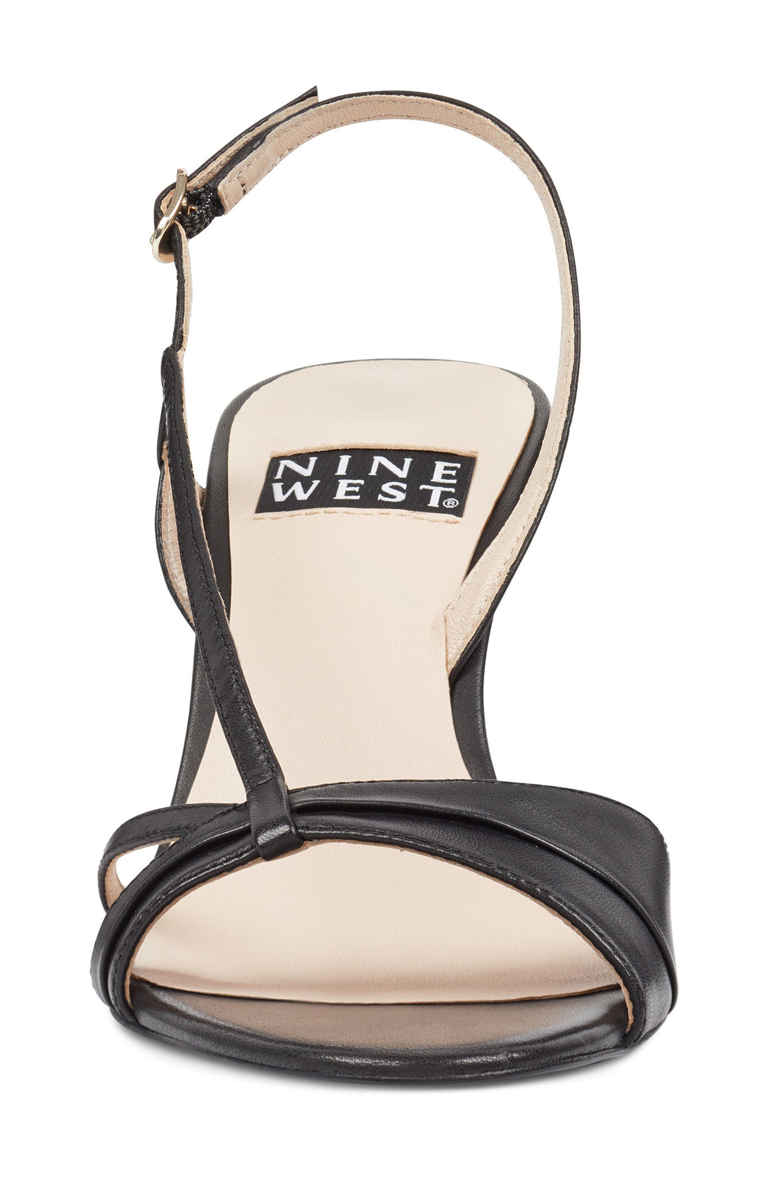 Accolia - 40th Anniversary Capsule Collection Sandal,                             Alternate thumbnail 4, color,                             BLACK LEATHER
