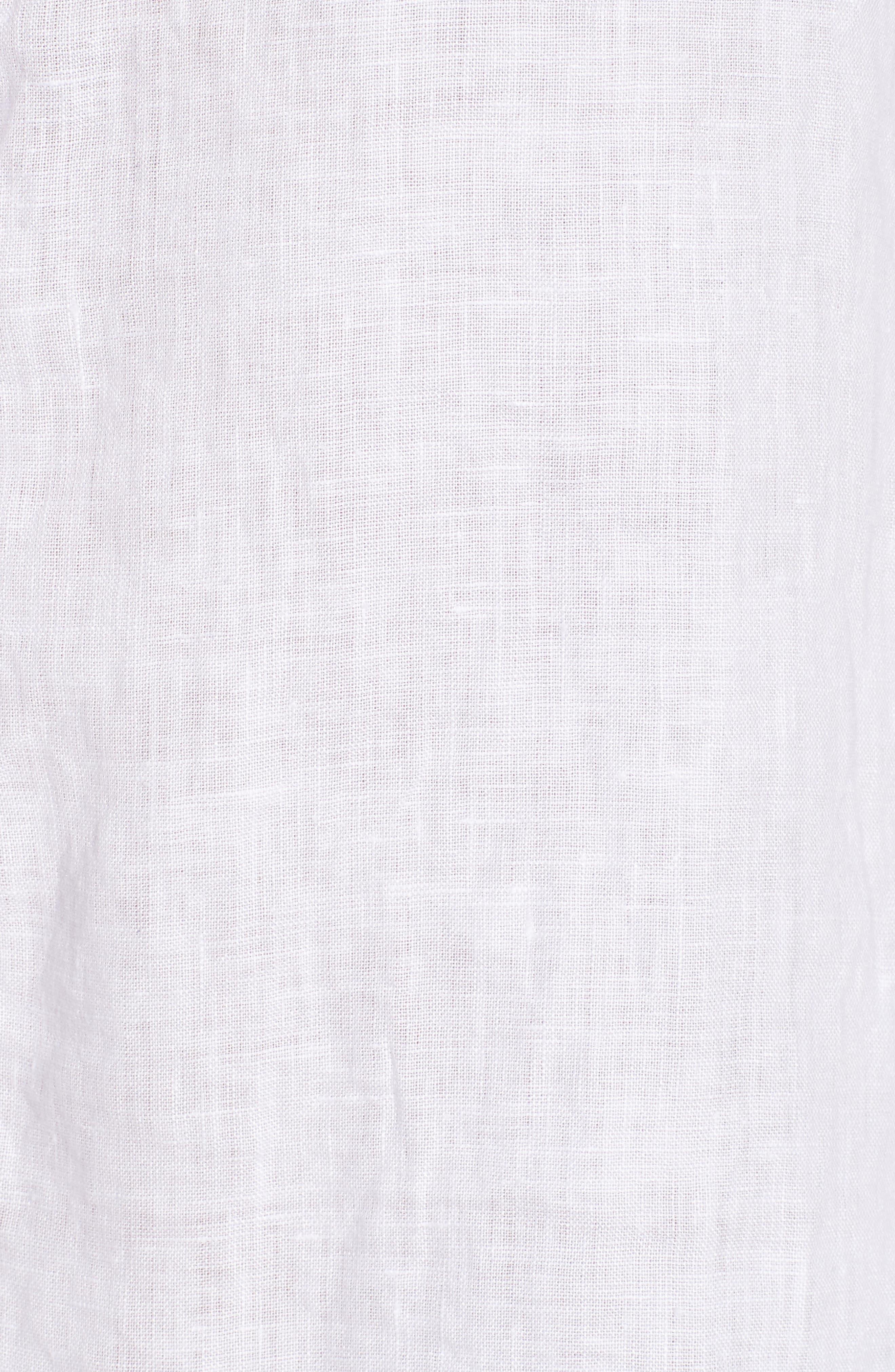 Linen Henley Shirt,                             Alternate thumbnail 6, color,                             100