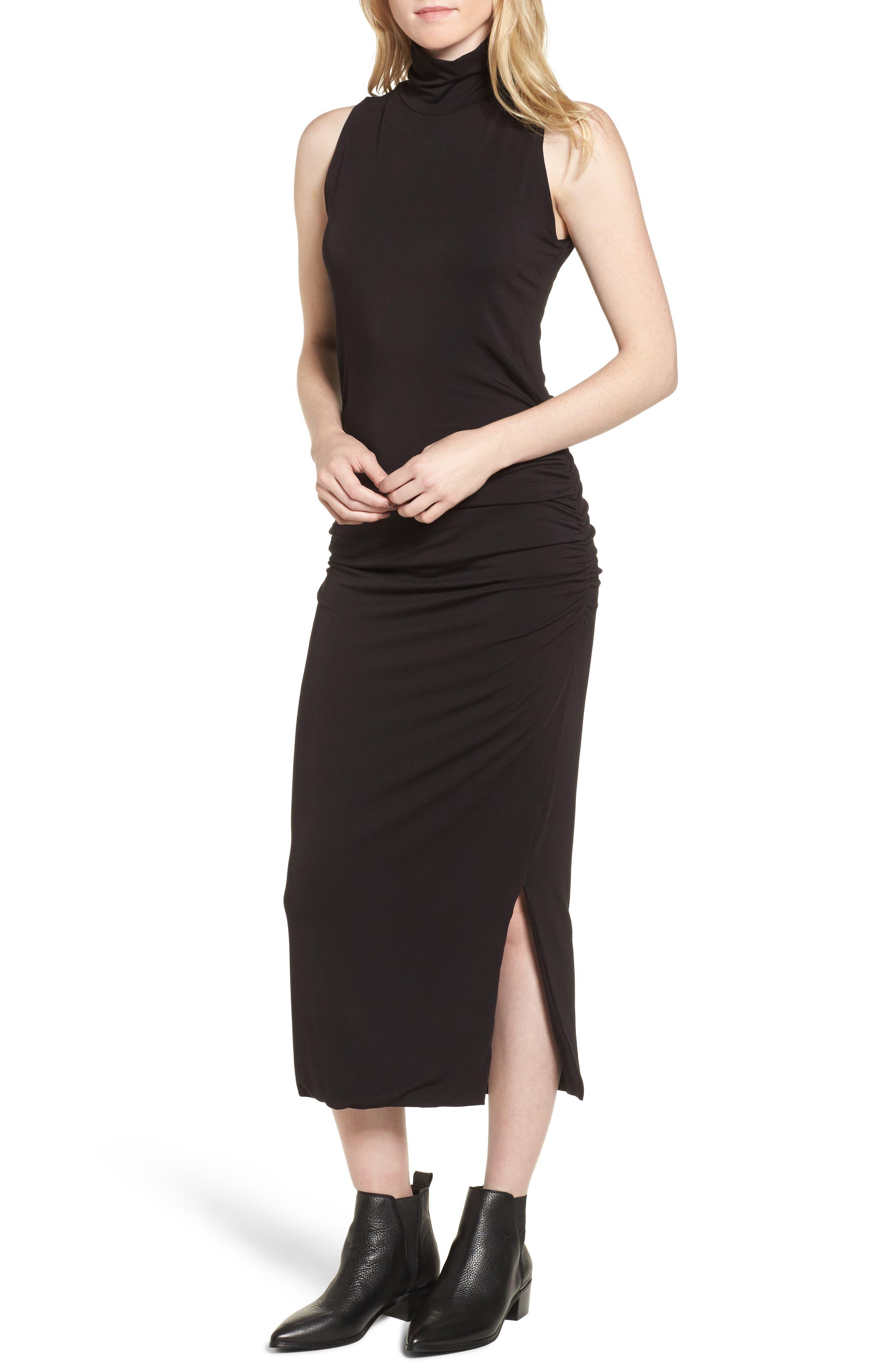 Turtleneck Maxi Dress,                             Main thumbnail 1, color,                             010