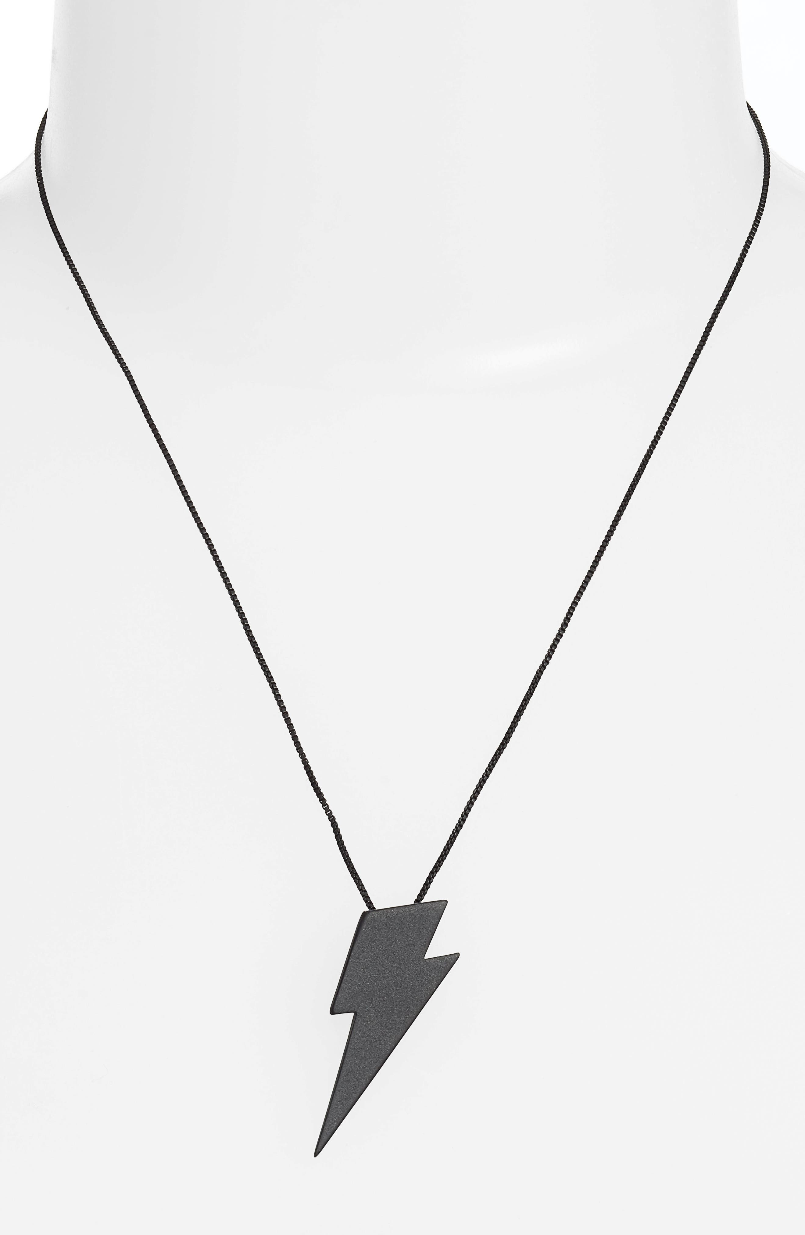 Thunderstruck Pendant Necklace,                             Alternate thumbnail 2, color,                             001