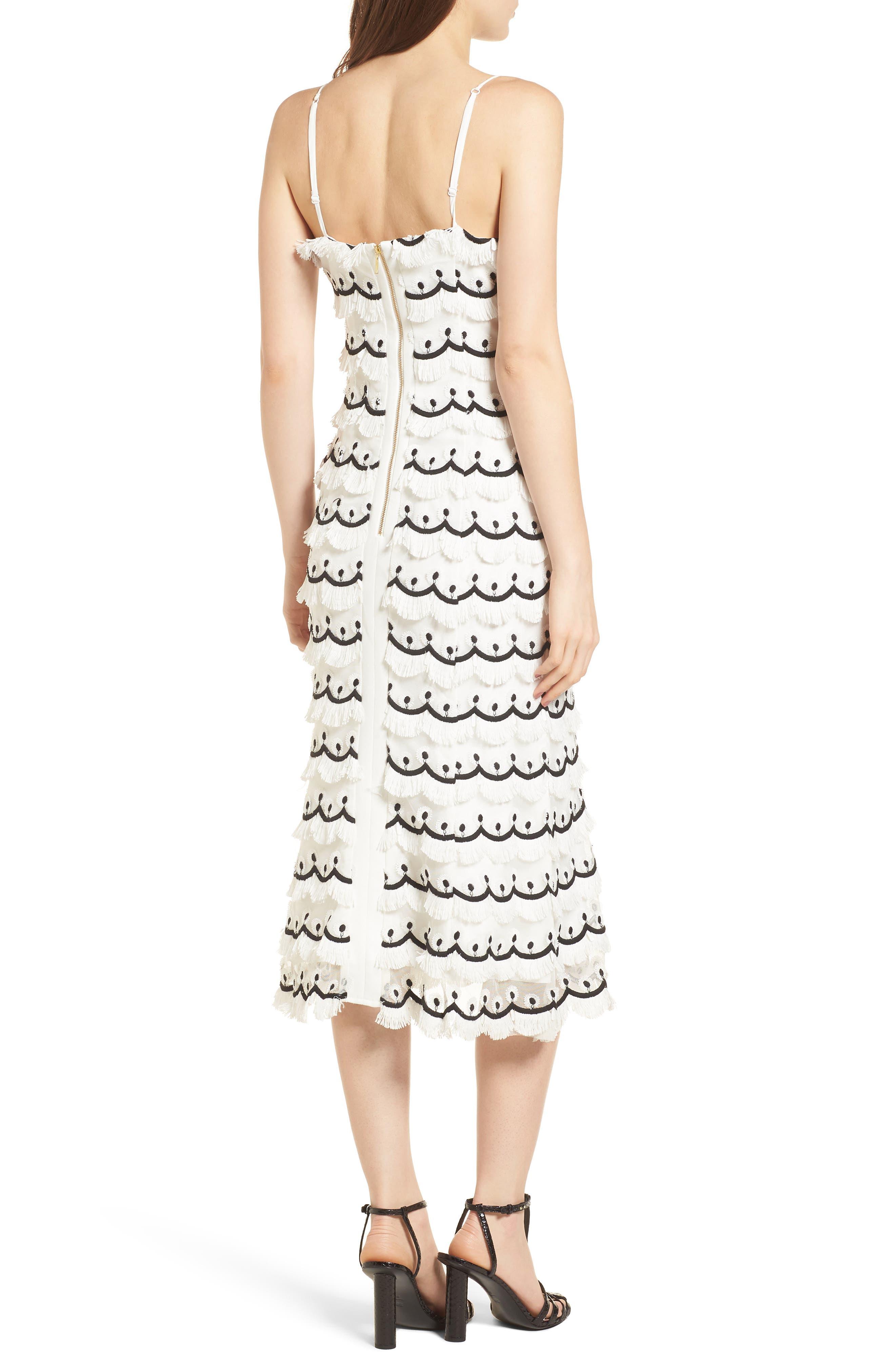 No Promises Fringe Midi Dress,                             Alternate thumbnail 2, color,                             900
