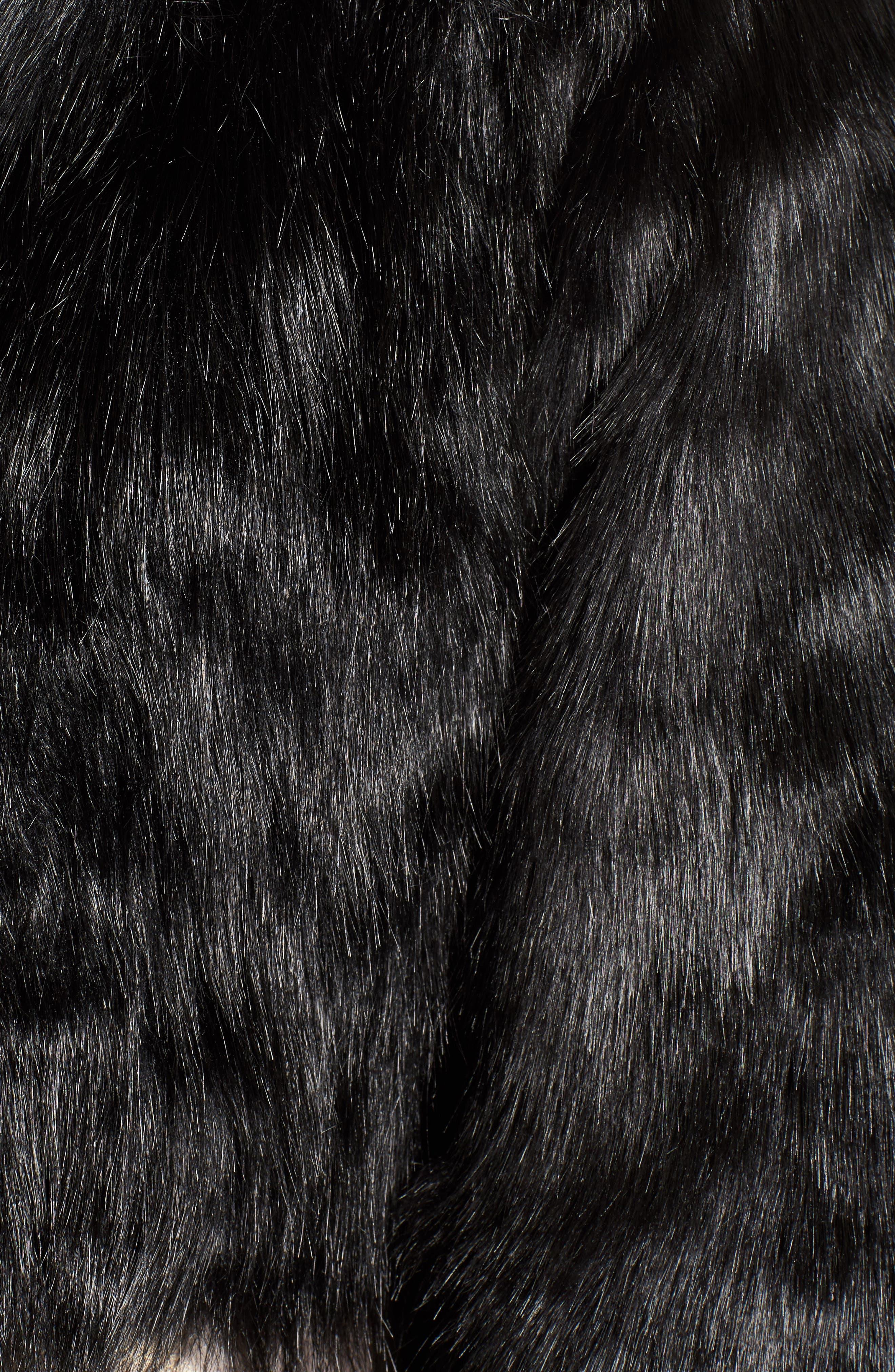 LOVE, FIRE,                             Fire Faux Fur Jacket,                             Alternate thumbnail 5, color,                             001