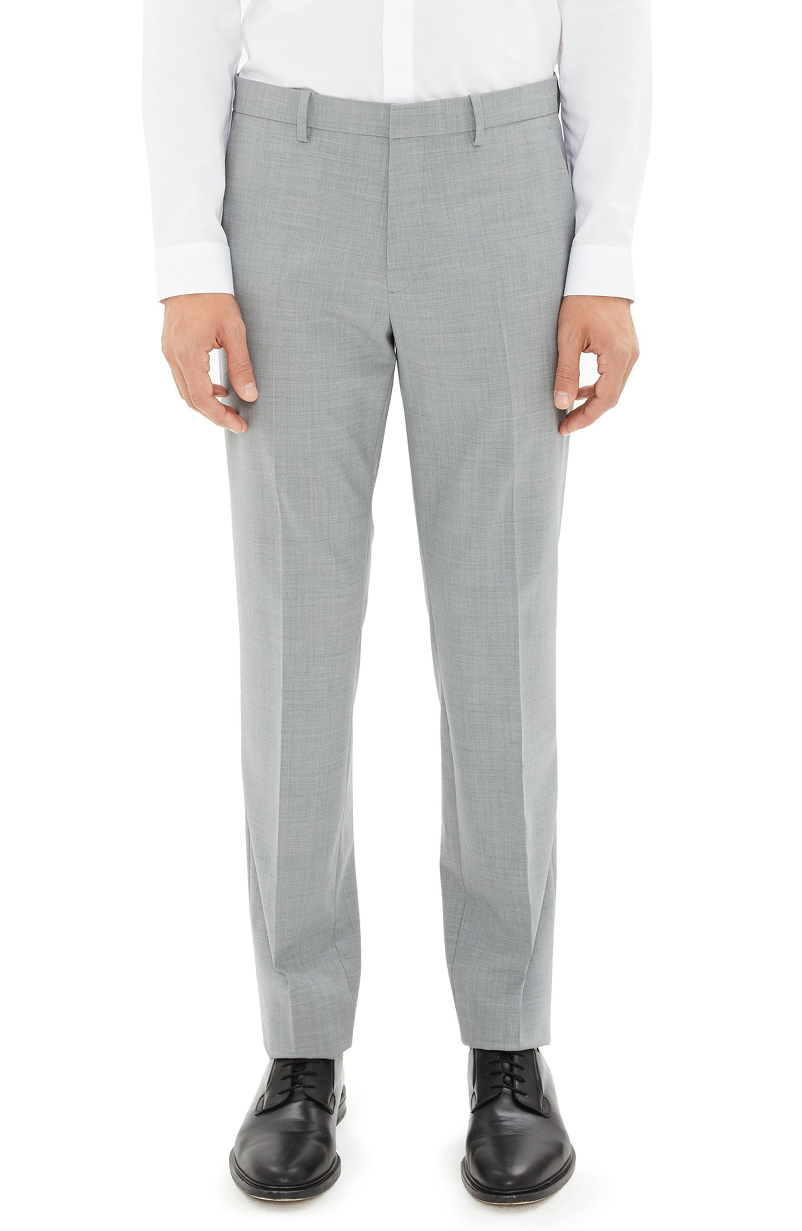 Mayer New Tailor 2 Wool Trousers, Main, color, CHROME MELANGE
