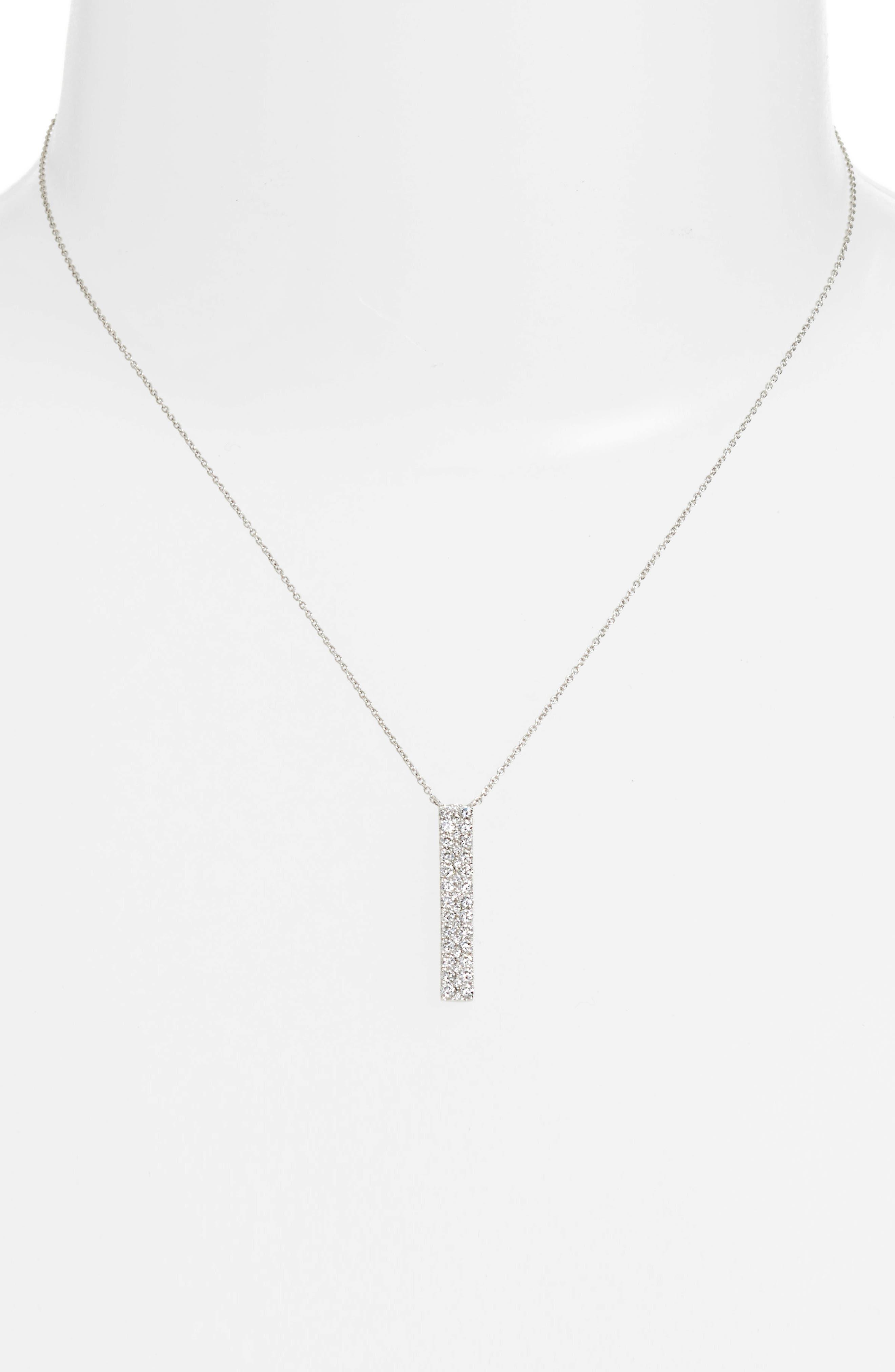 Kiera Diamond Bar Pendant Necklace,                         Main,                         color, 711