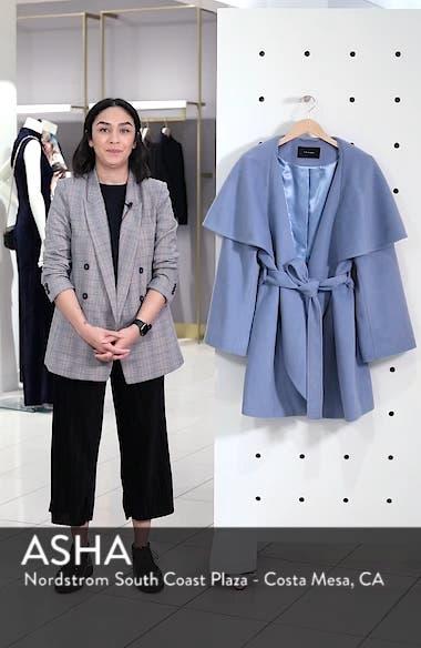 Marla Cutaway Wrap Coat with Oversize Collar, sales video thumbnail