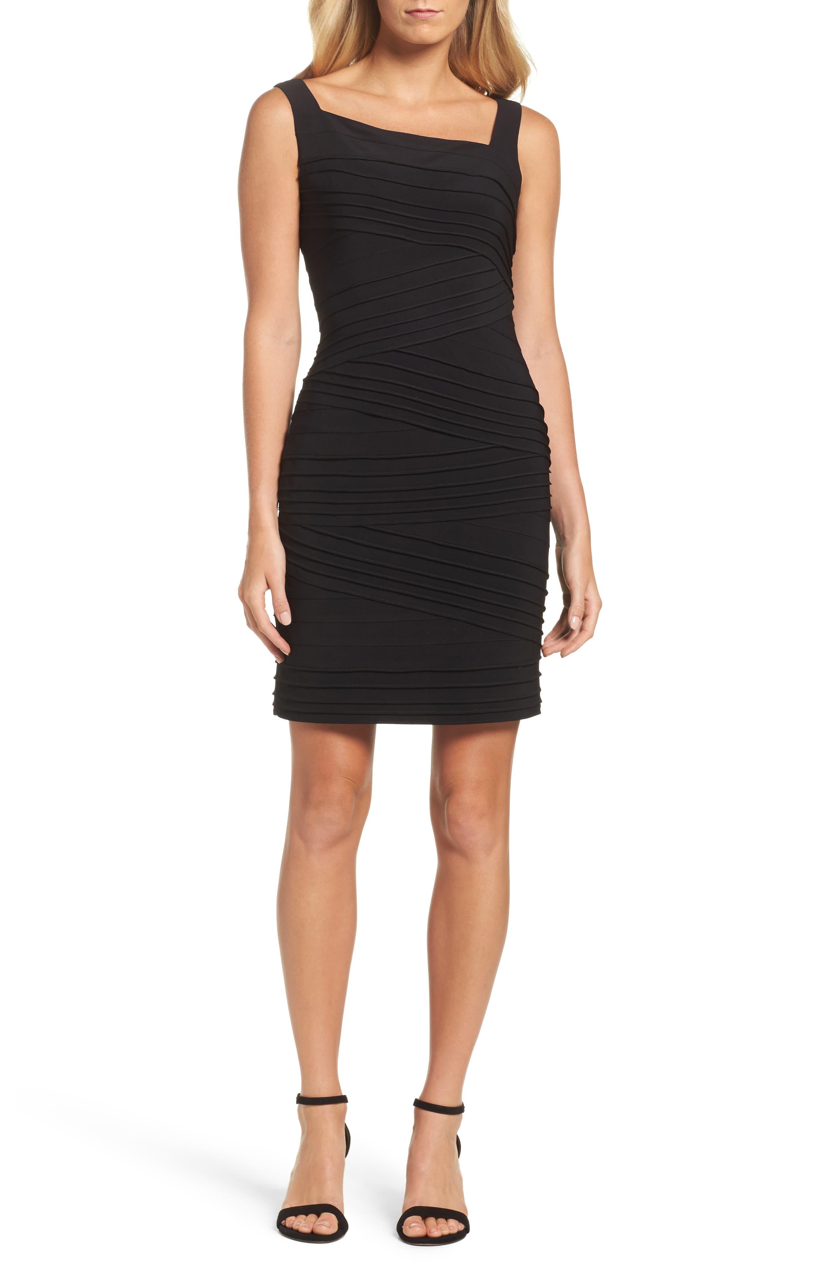Banded Body-Con Dress,                             Main thumbnail 1, color,                             002