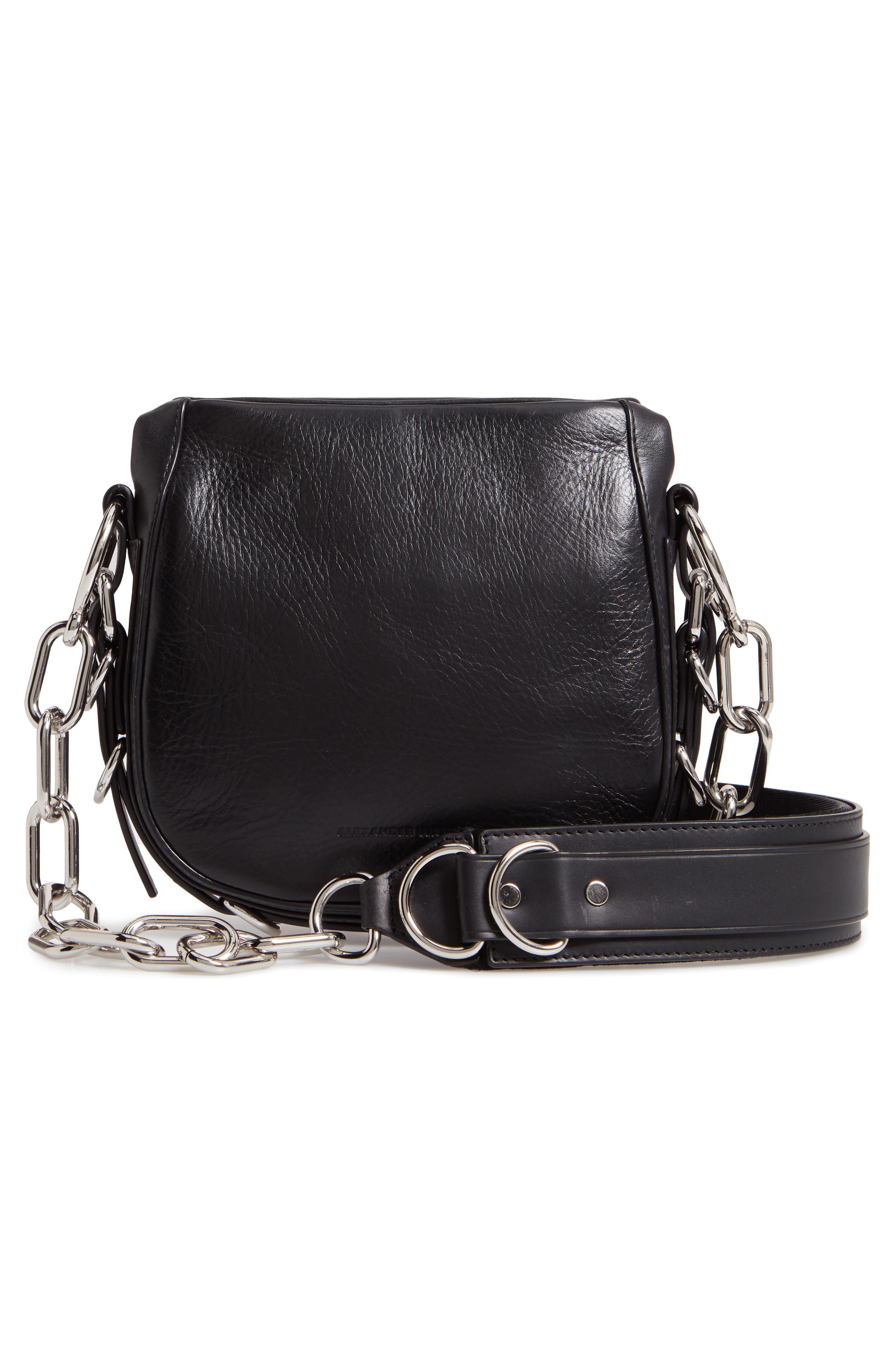 Rove Mixed Media Crossbody Bag,                             Alternate thumbnail 3, color,                             BLACK