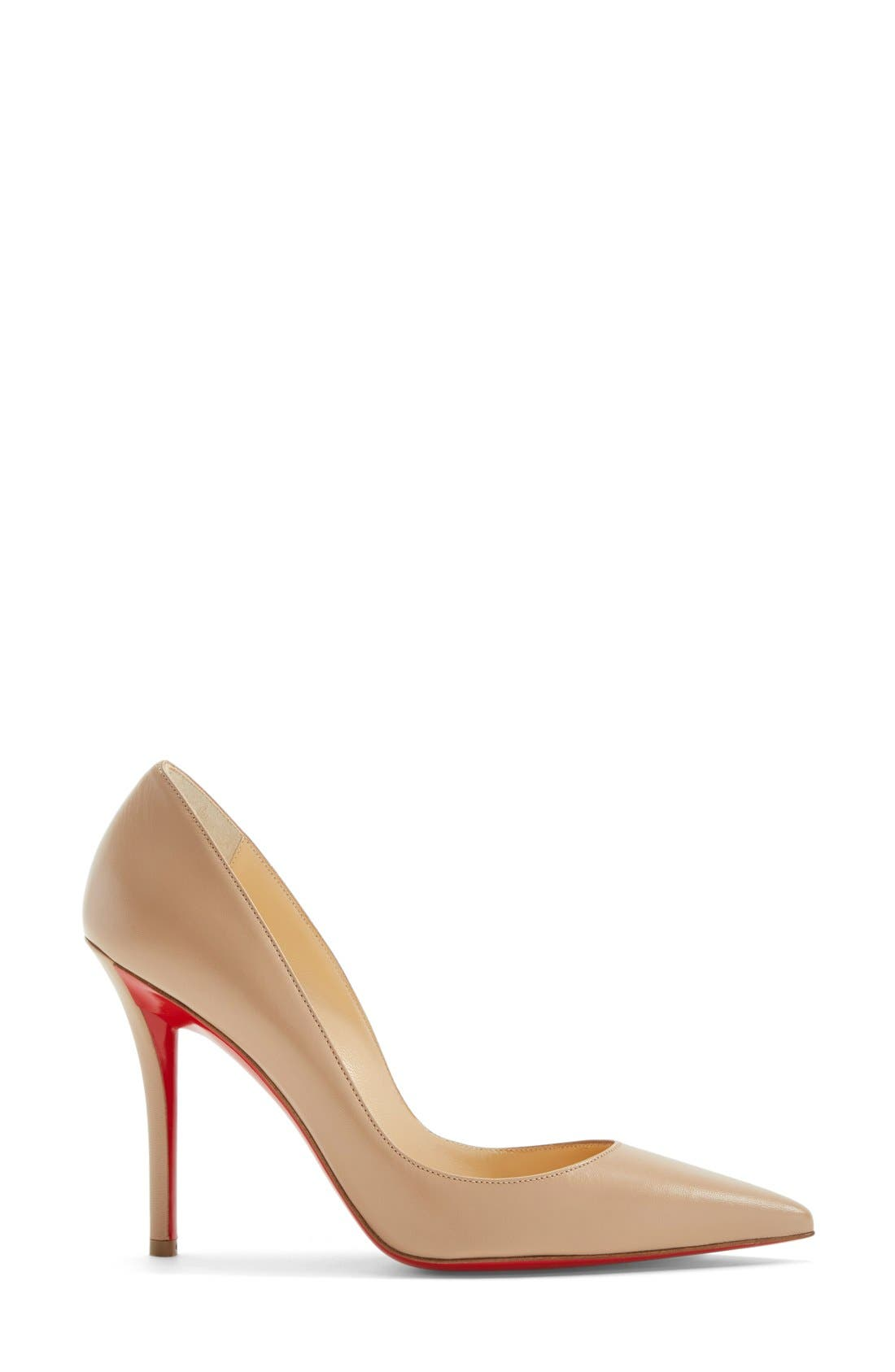 'Apostrophy' Pointy Toe Pump,                             Alternate thumbnail 6, color,