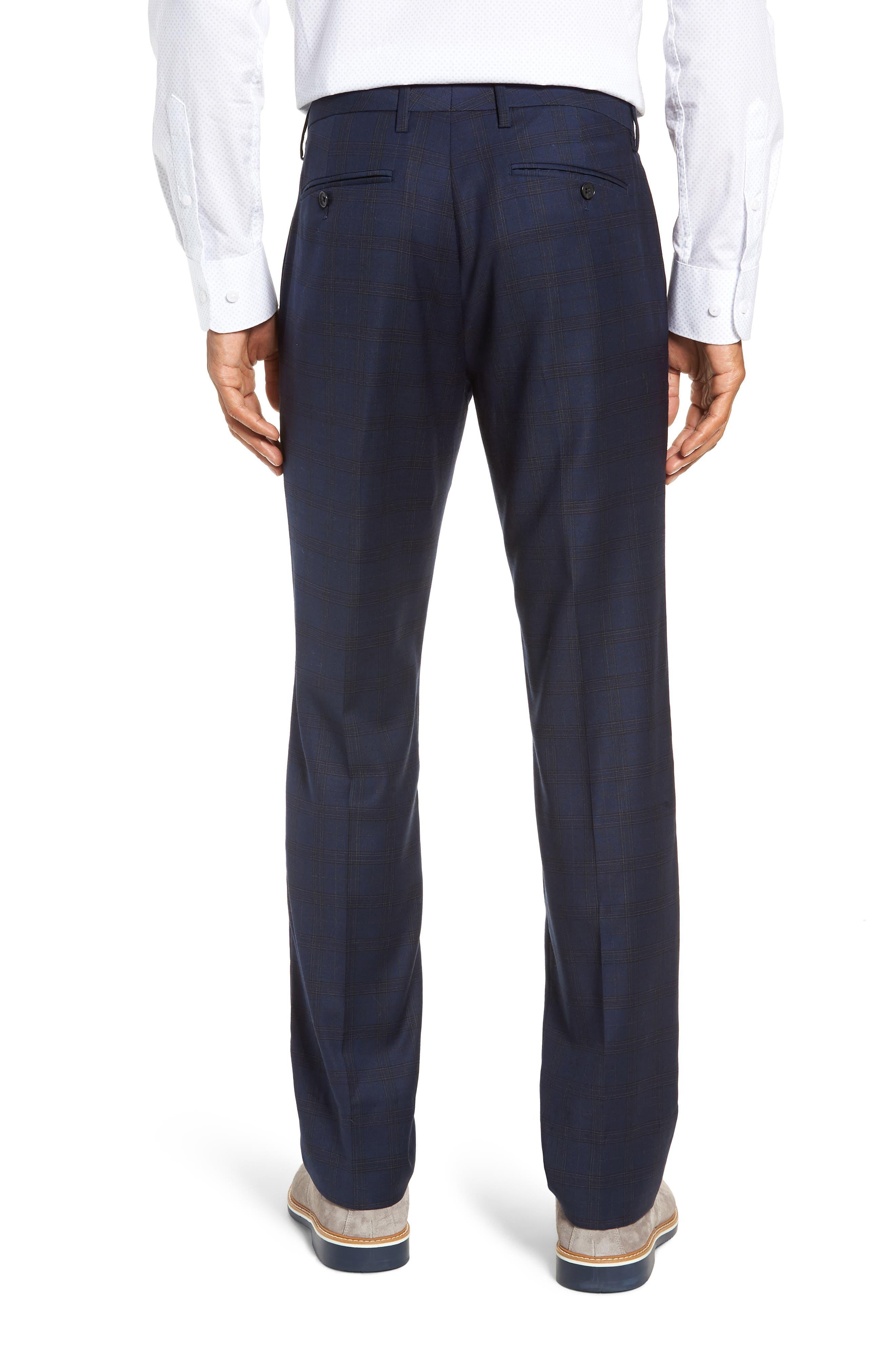 Jetsetter Slim Fit Stretch Suit Pants,                             Alternate thumbnail 2, color,                             SUBTLE NAVY PLAID