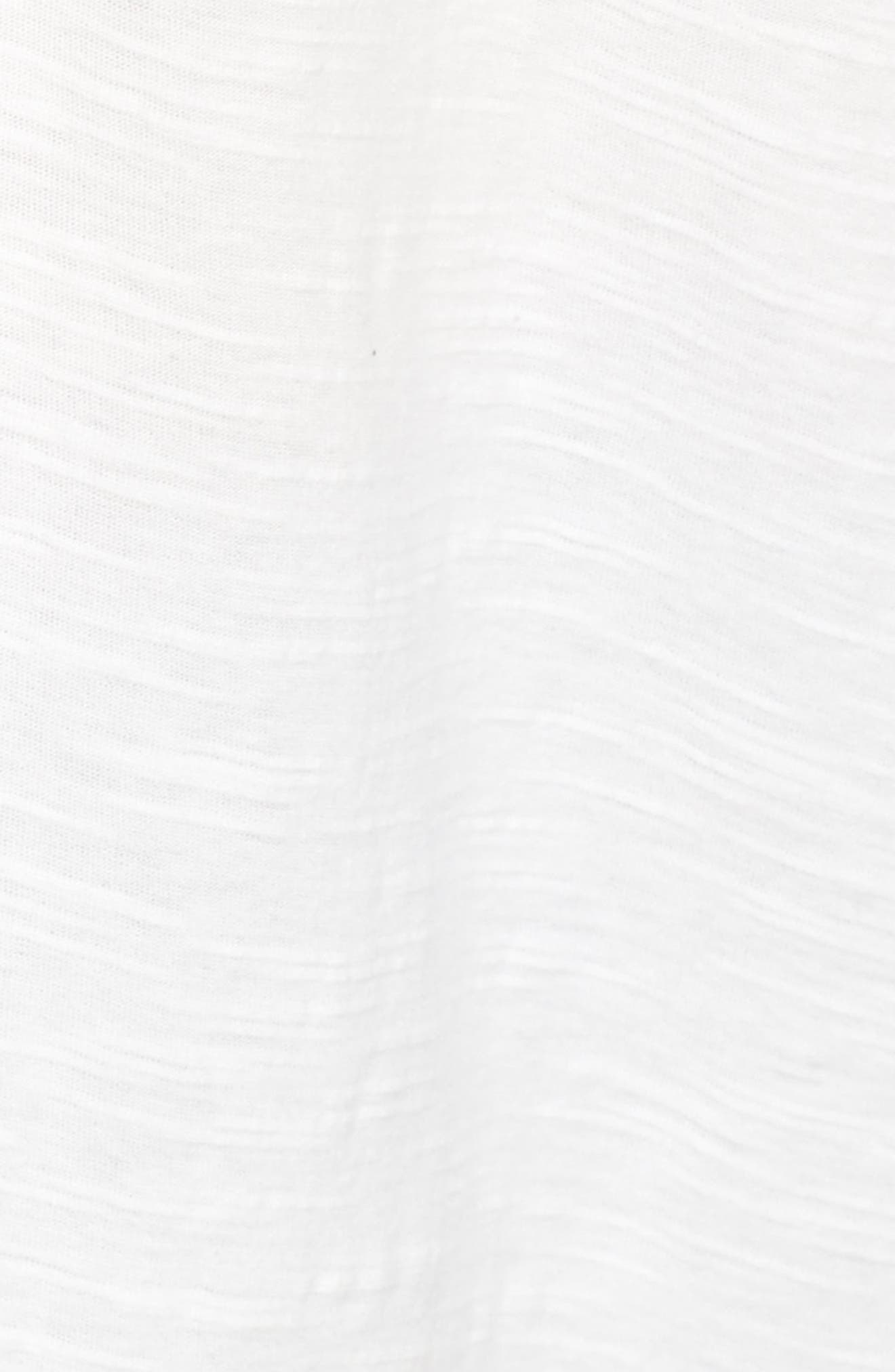 Embroidered Cotton Split Neck Top,                             Alternate thumbnail 5, color,                             103