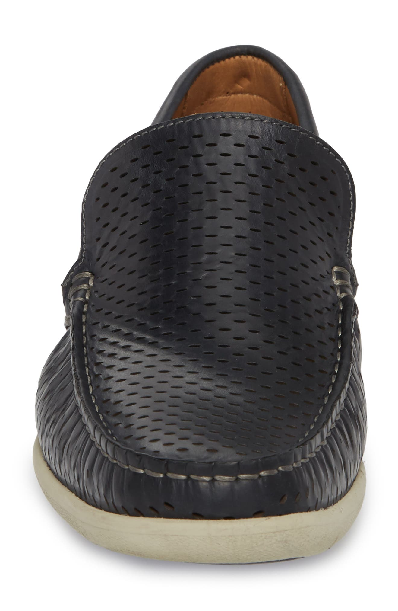 Manhattan Loafer,                             Alternate thumbnail 4, color,                             NAVY LEATHER