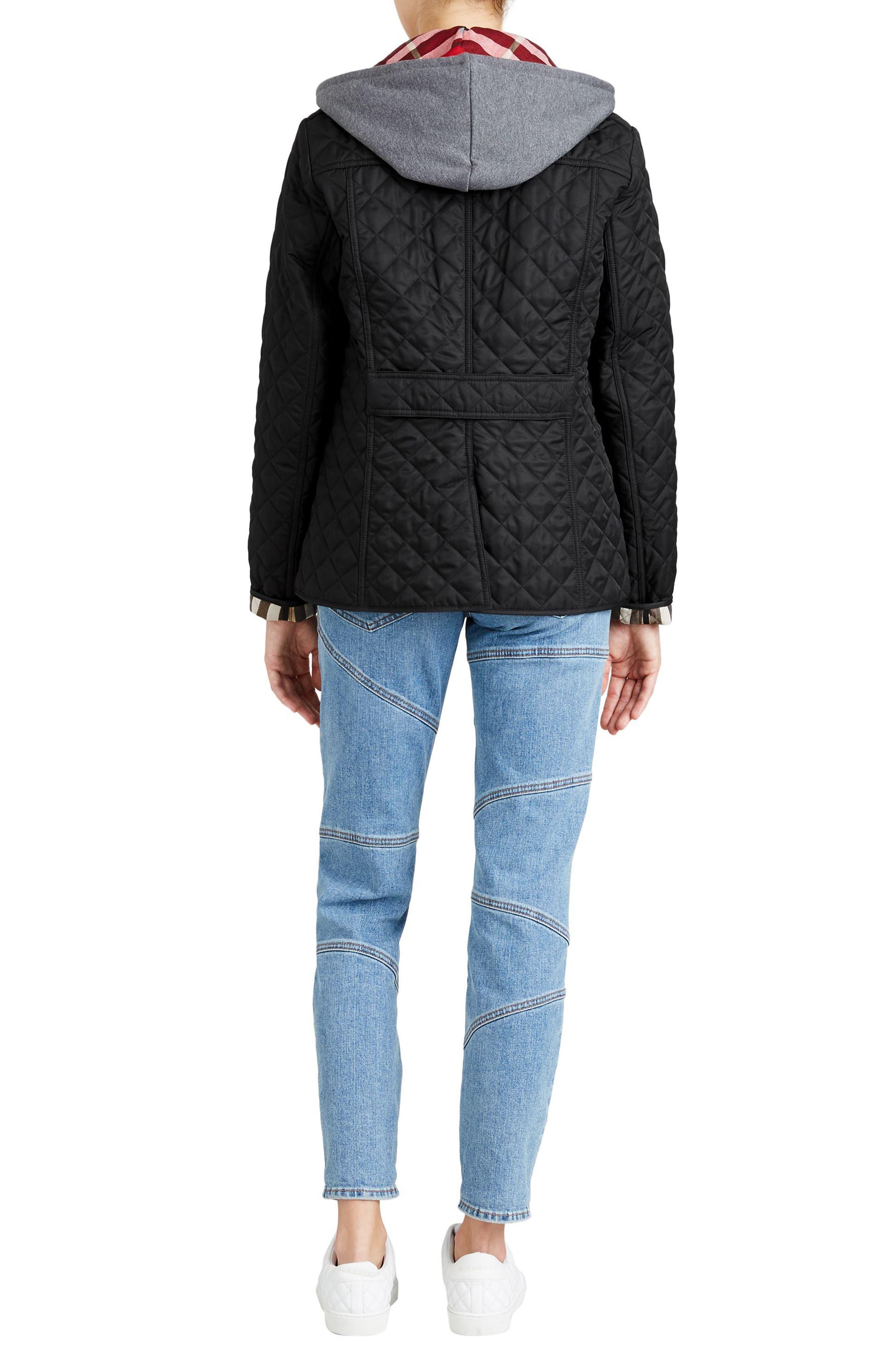 Ashurst Quilted Jacket,                             Alternate thumbnail 8, color,                             BLACK