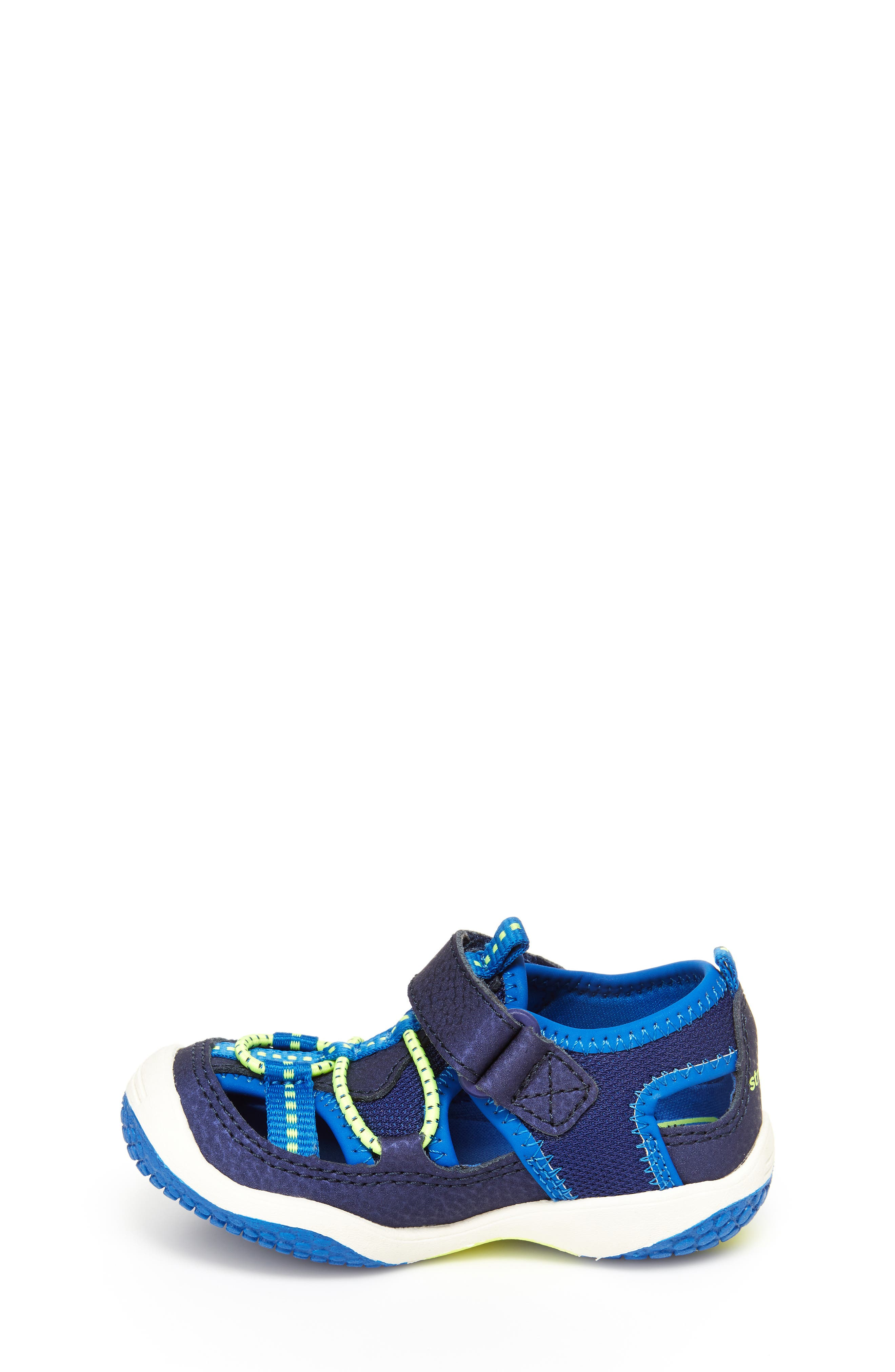 STRIDE RITE,                             Marina Water Sandal,                             Alternate thumbnail 7, color,                             ELECTRIC BLUE LEATHER/ TEXTILE
