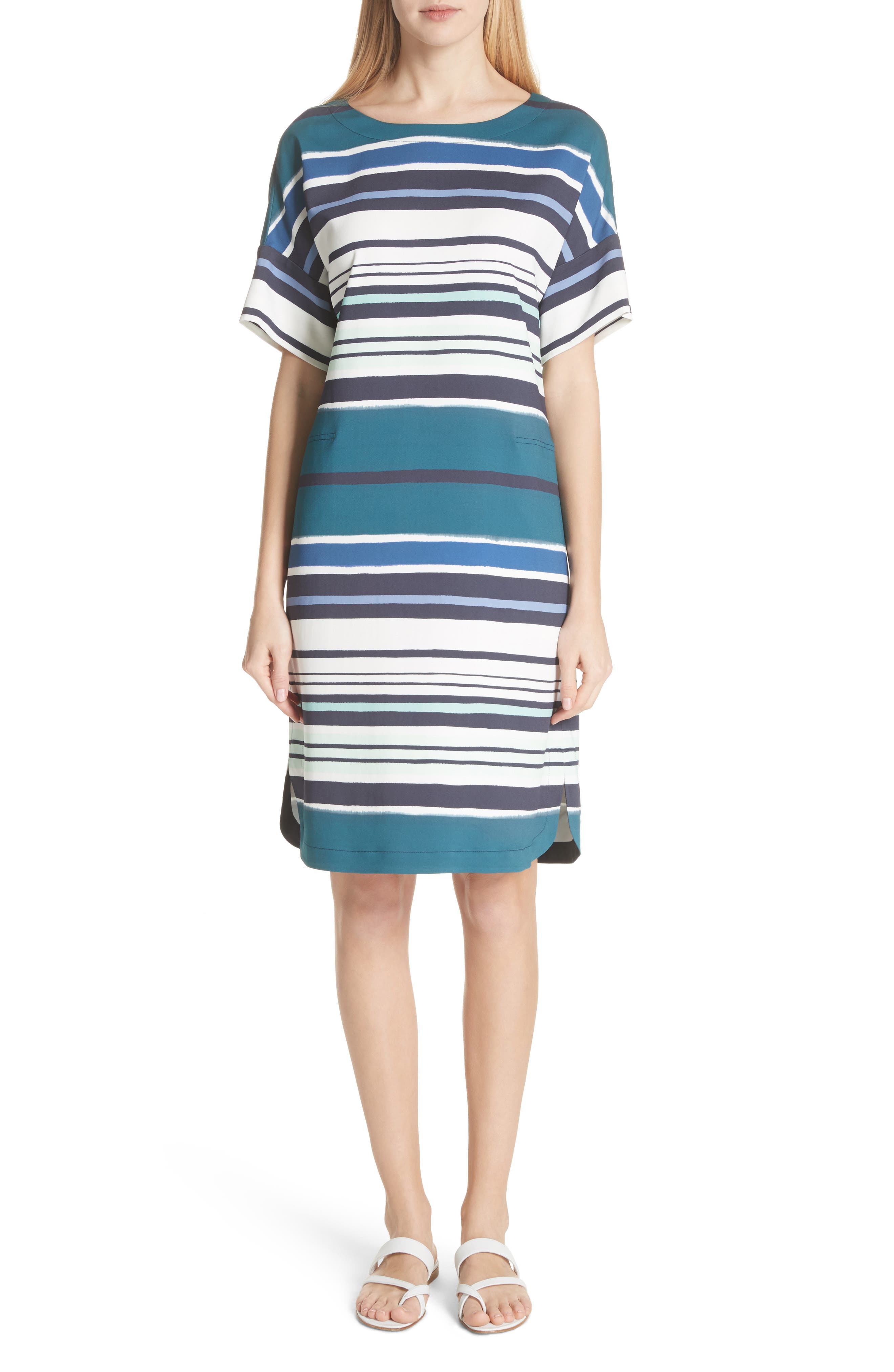 Lydia Stripe Dress,                             Main thumbnail 1, color,                             438