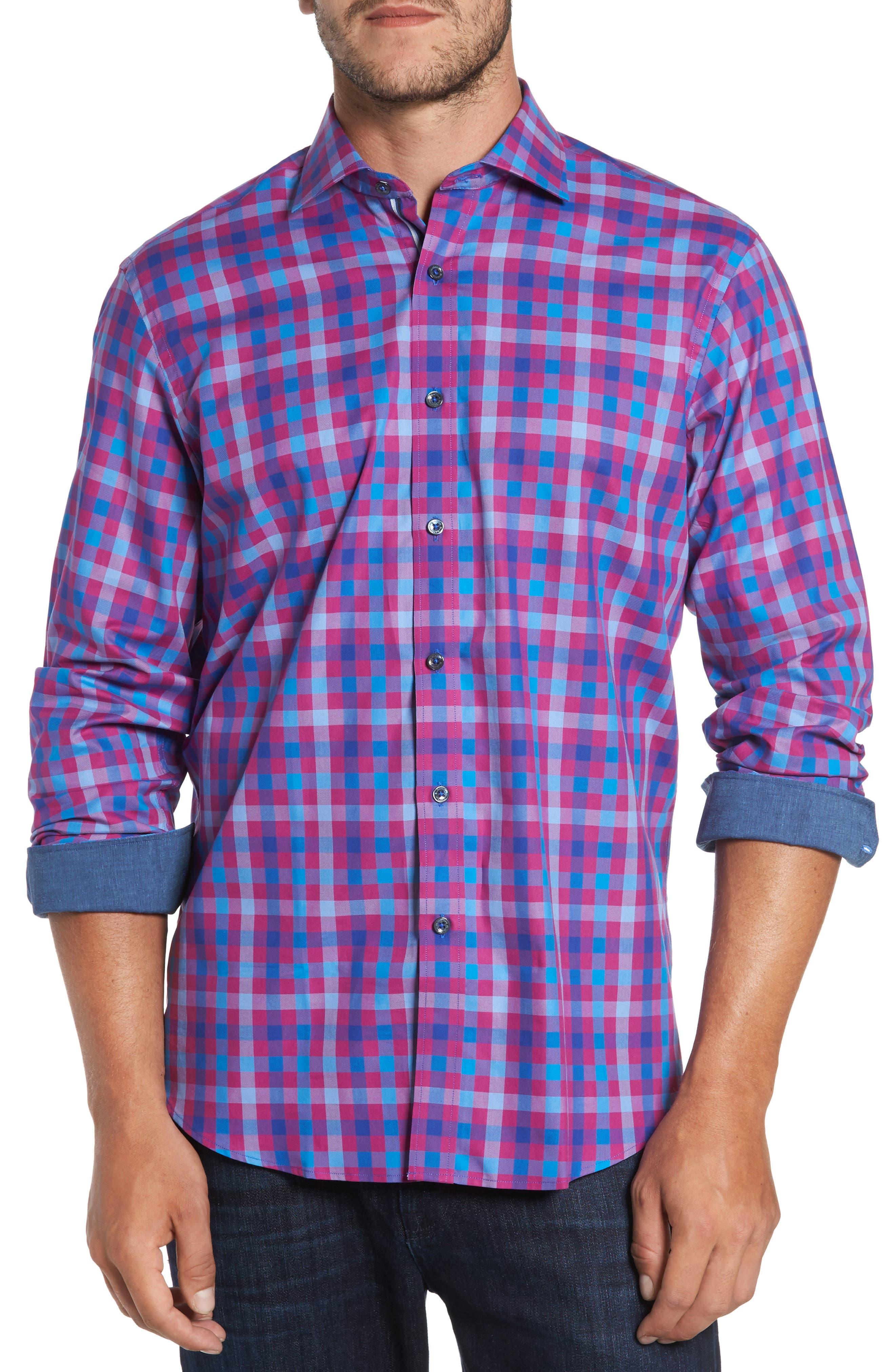 Classic Fit Check Sport Shirt,                             Main thumbnail 2, color,