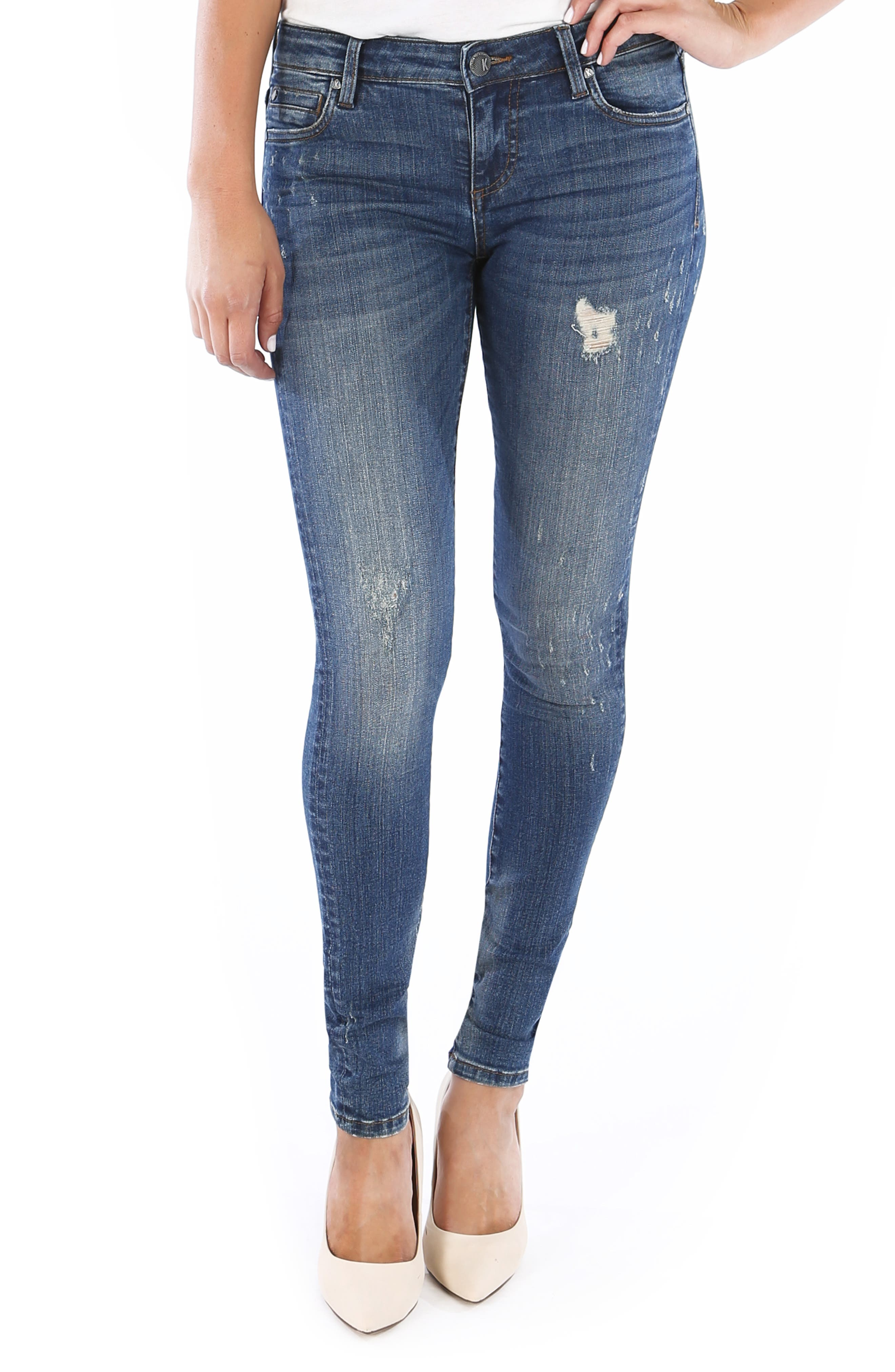 Mia Toothpick Skinny Jeans in Foresee