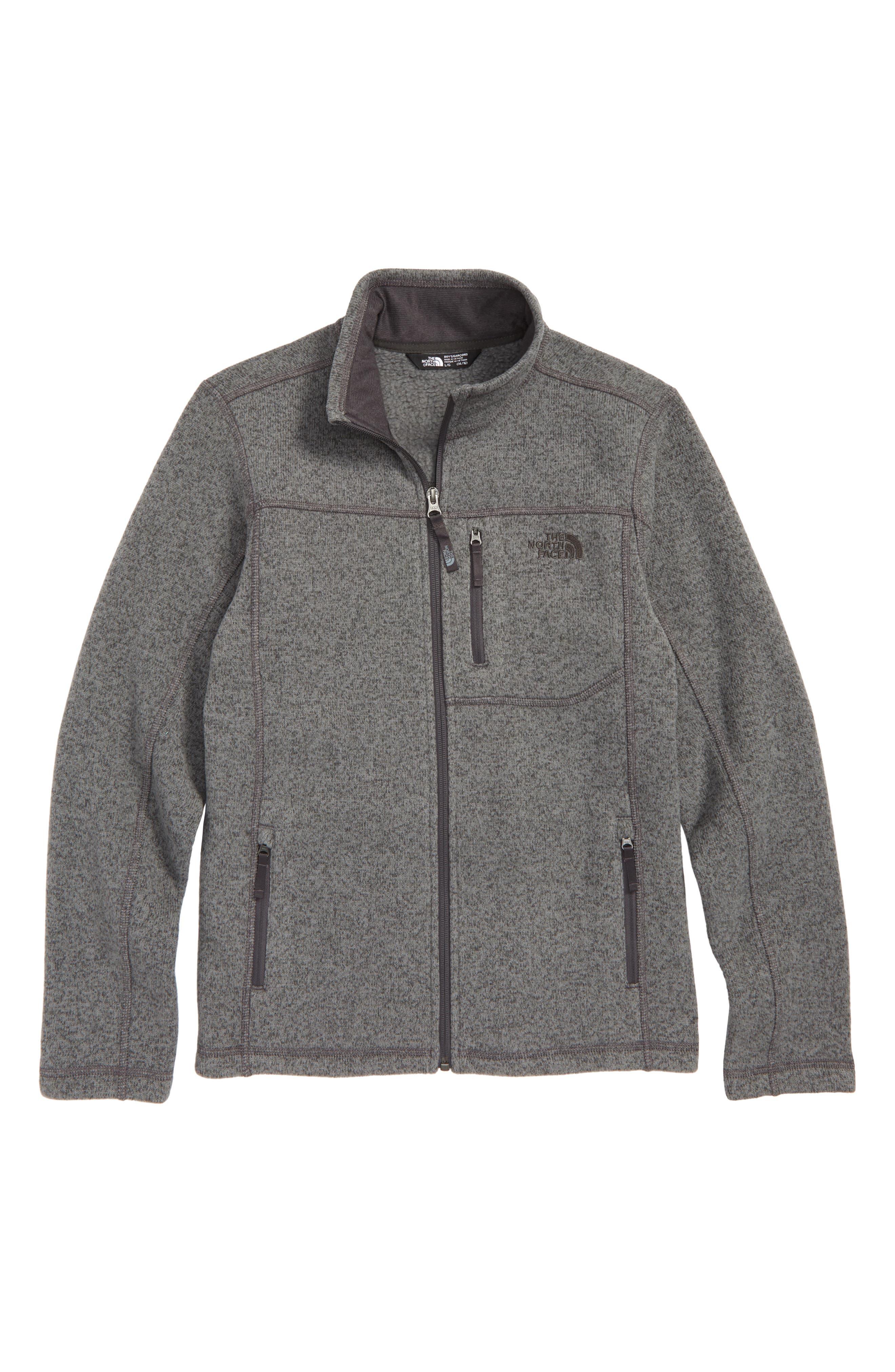 Gordon Lyons Sweater Fleece Zip Jacket,                         Main,                         color, GRAPHITE HEATHER GREY