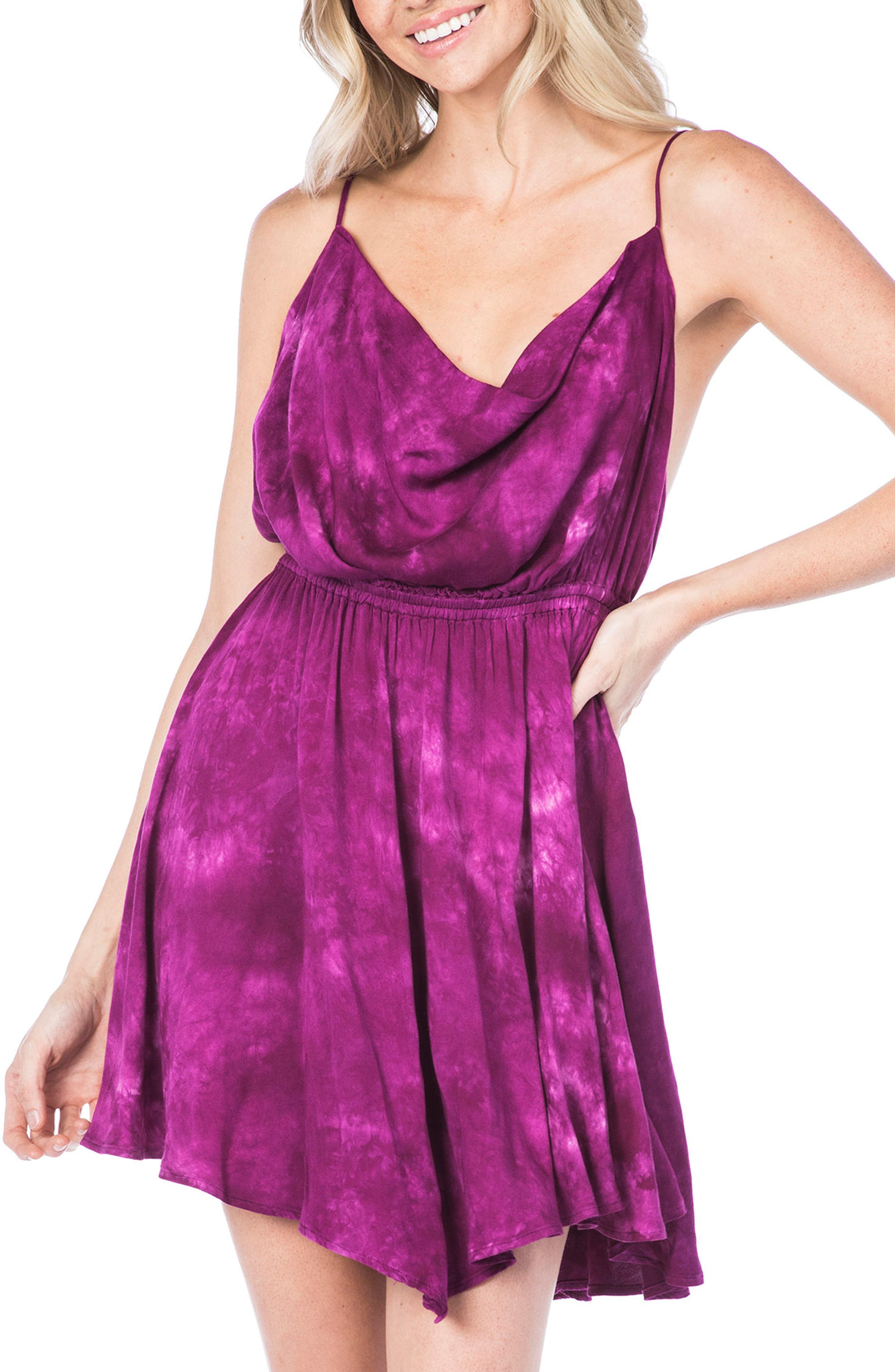Negril Cowl Neck Cover-Up Dress,                         Main,                         color, 653