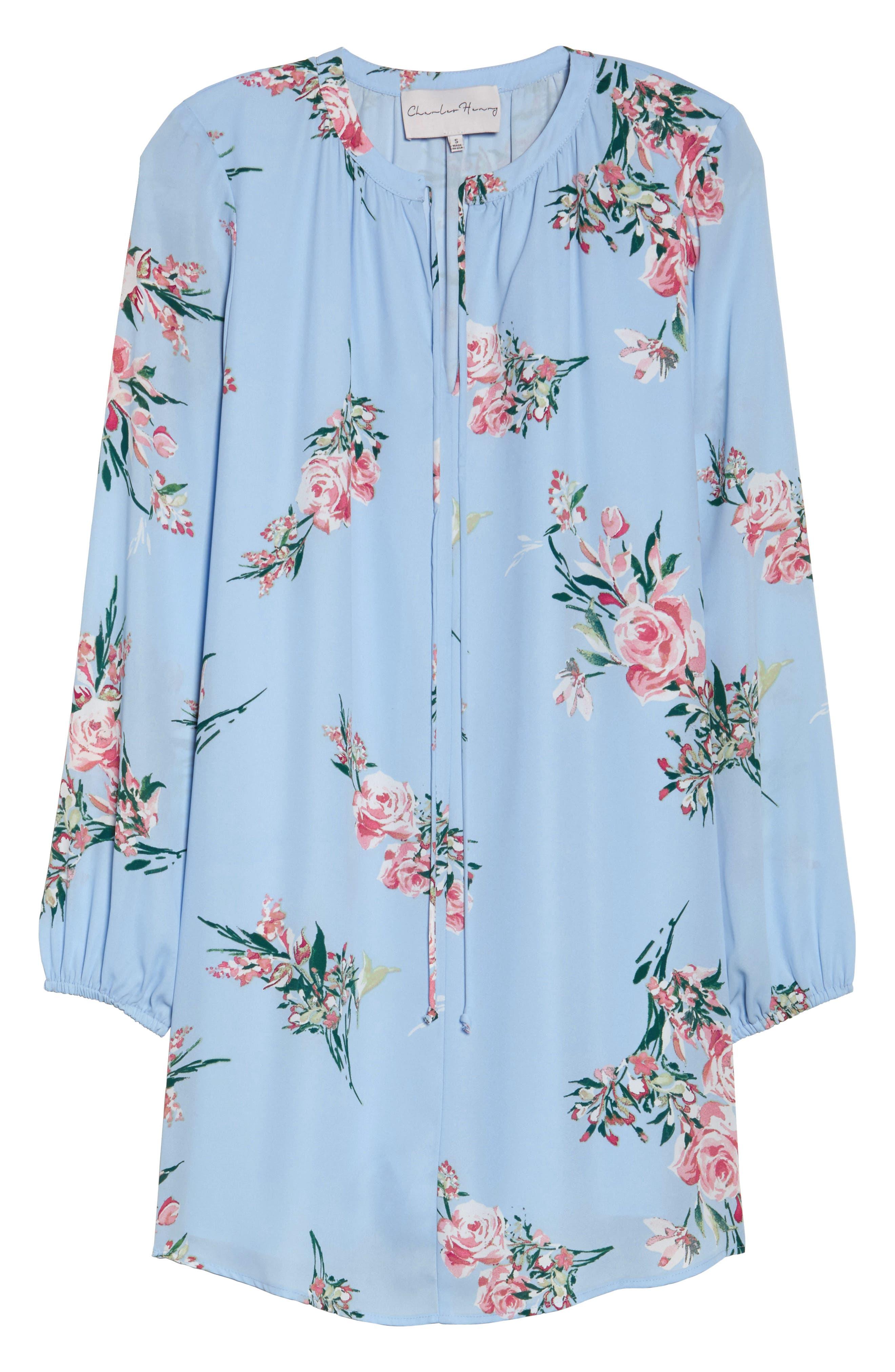 Floral Shift Dress,                             Alternate thumbnail 7, color,