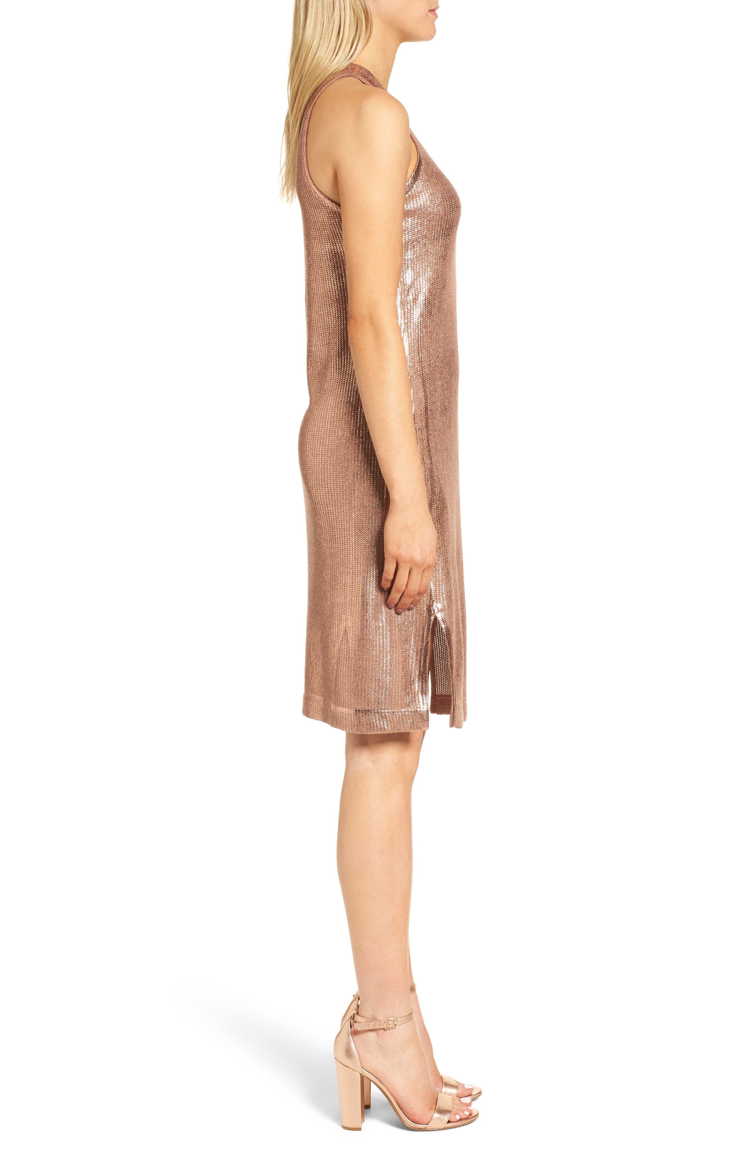 Metallic Coated Dress,                             Alternate thumbnail 6, color,
