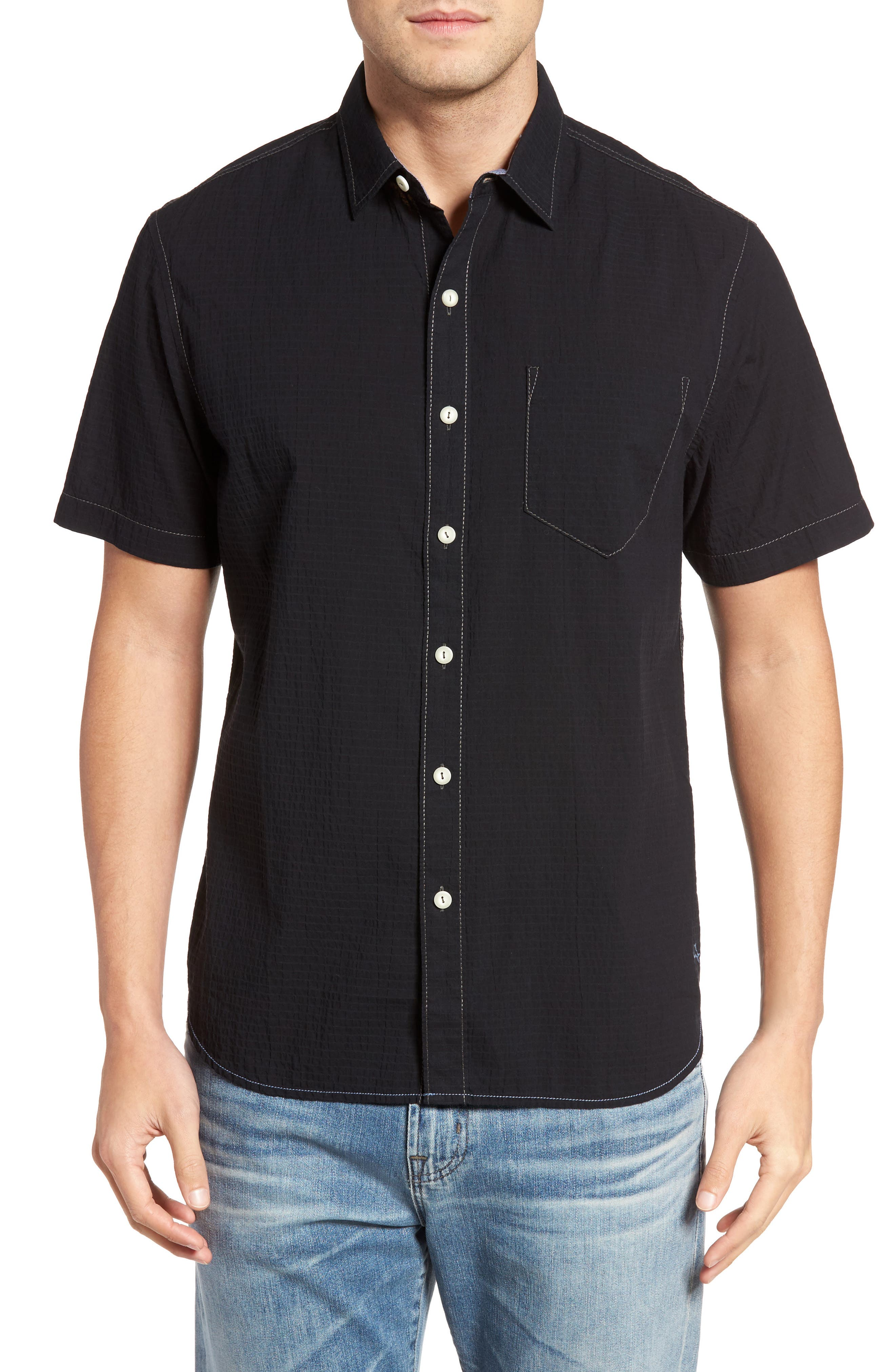 The Salvatore Sport Shirt,                         Main,                         color, 001