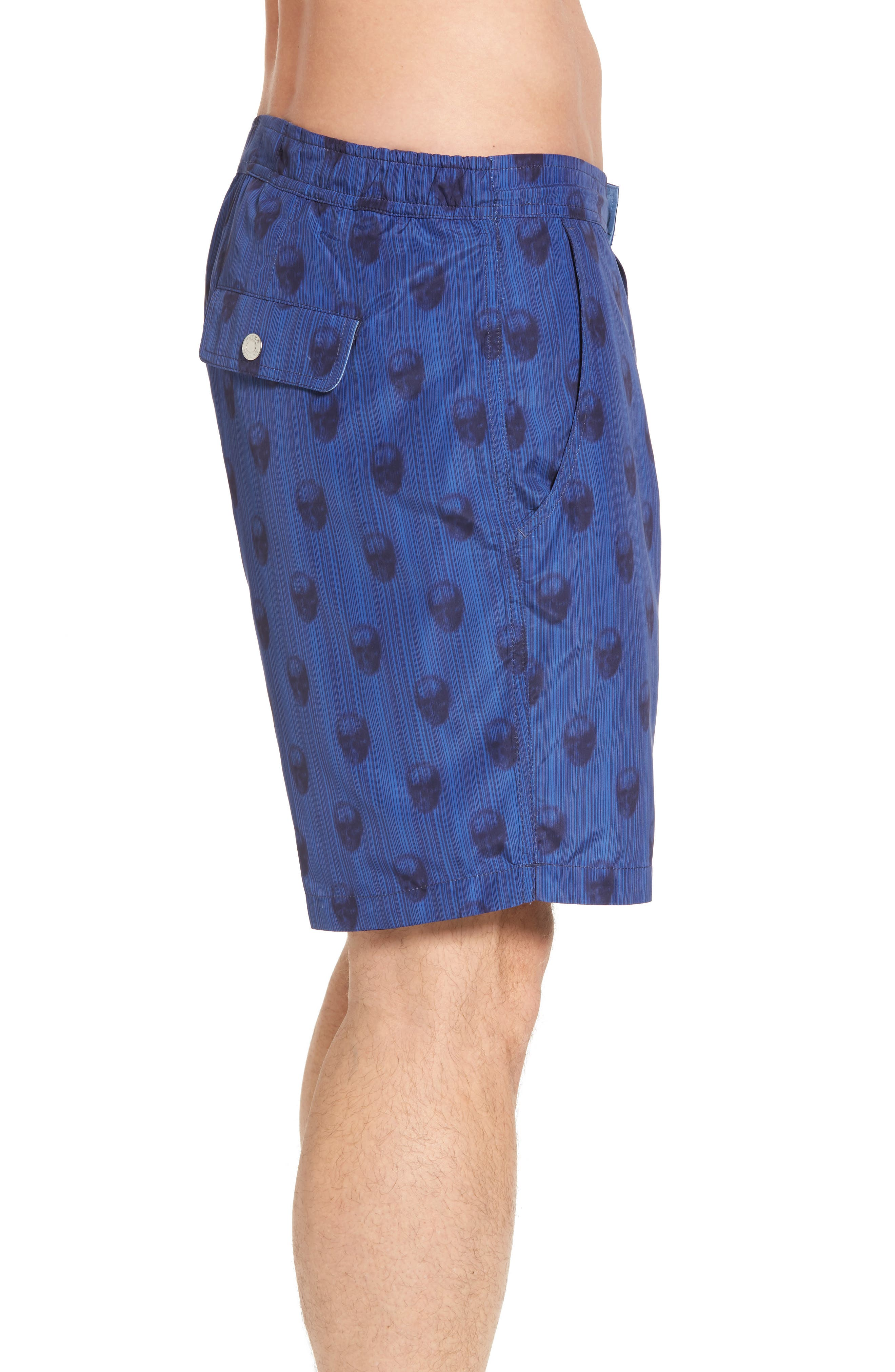 Peter Millar Black Jack's Bay Swim Trunks,                             Alternate thumbnail 3, color,                             440