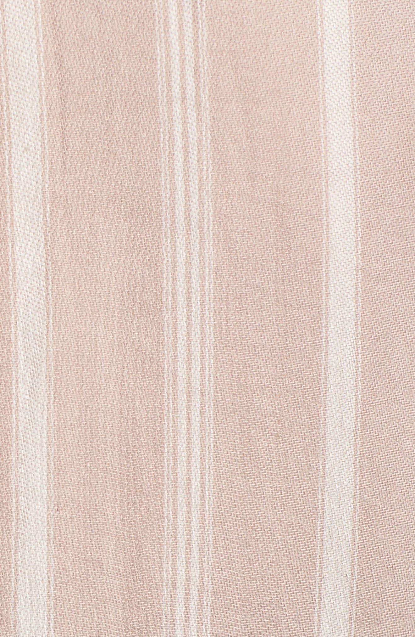 Holt Stripe Tie Hem Top,                             Alternate thumbnail 6, color,                             020