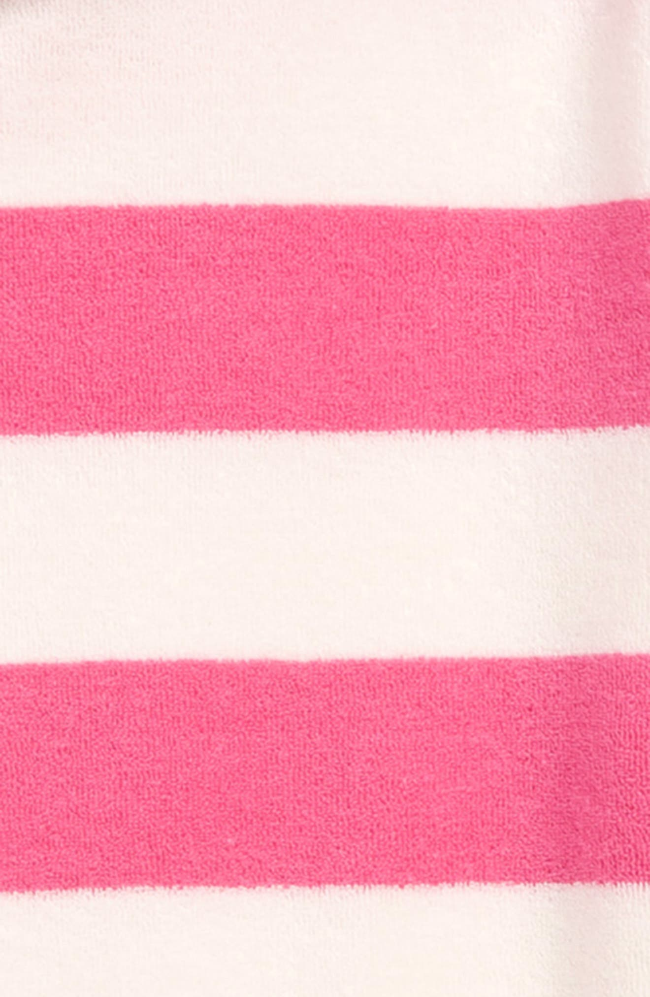 Stripey Towelling Beach Dress,                             Alternate thumbnail 2, color,                             PNK FESTIVAL PINK STRIPE
