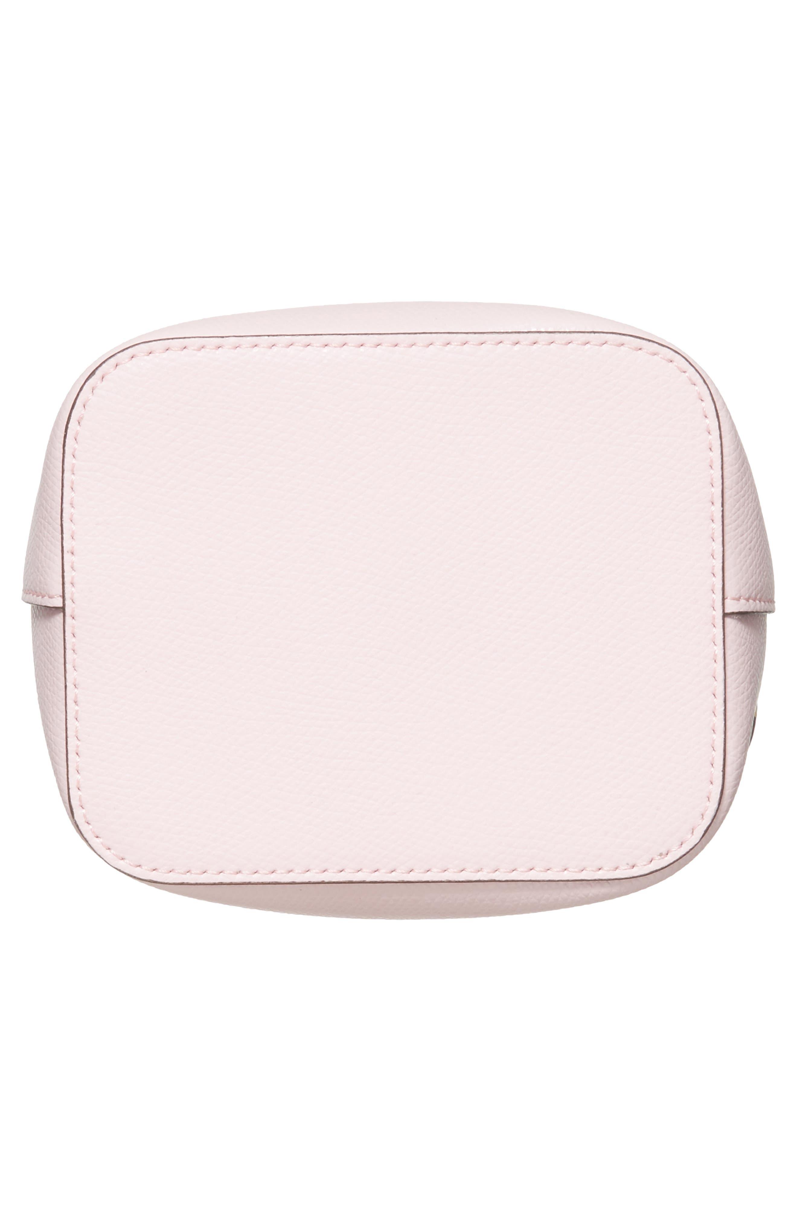 Mini Leather Bucket Bag,                             Alternate thumbnail 12, color,
