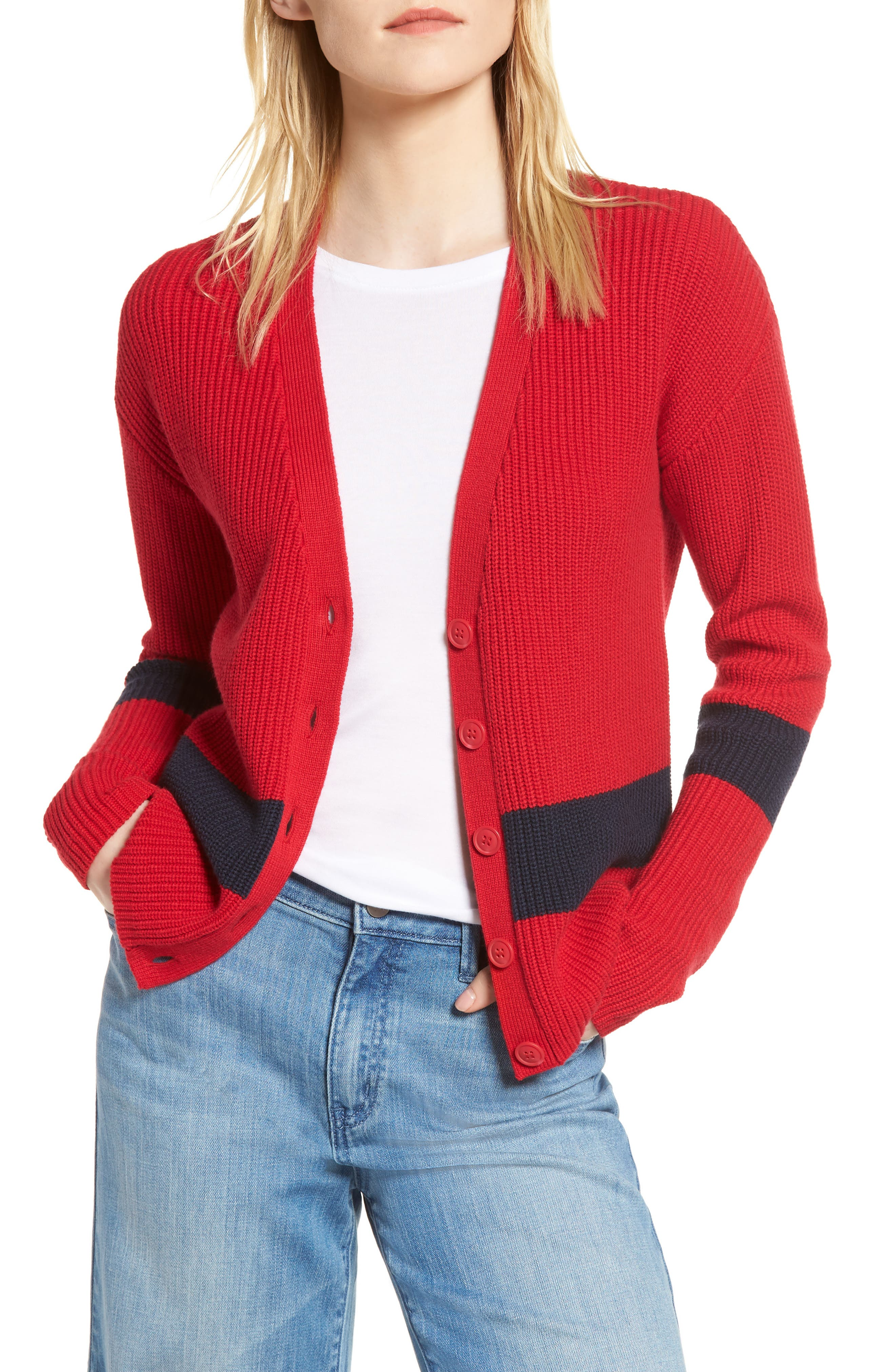 Shaker Knit Cardigan,                             Main thumbnail 6, color,