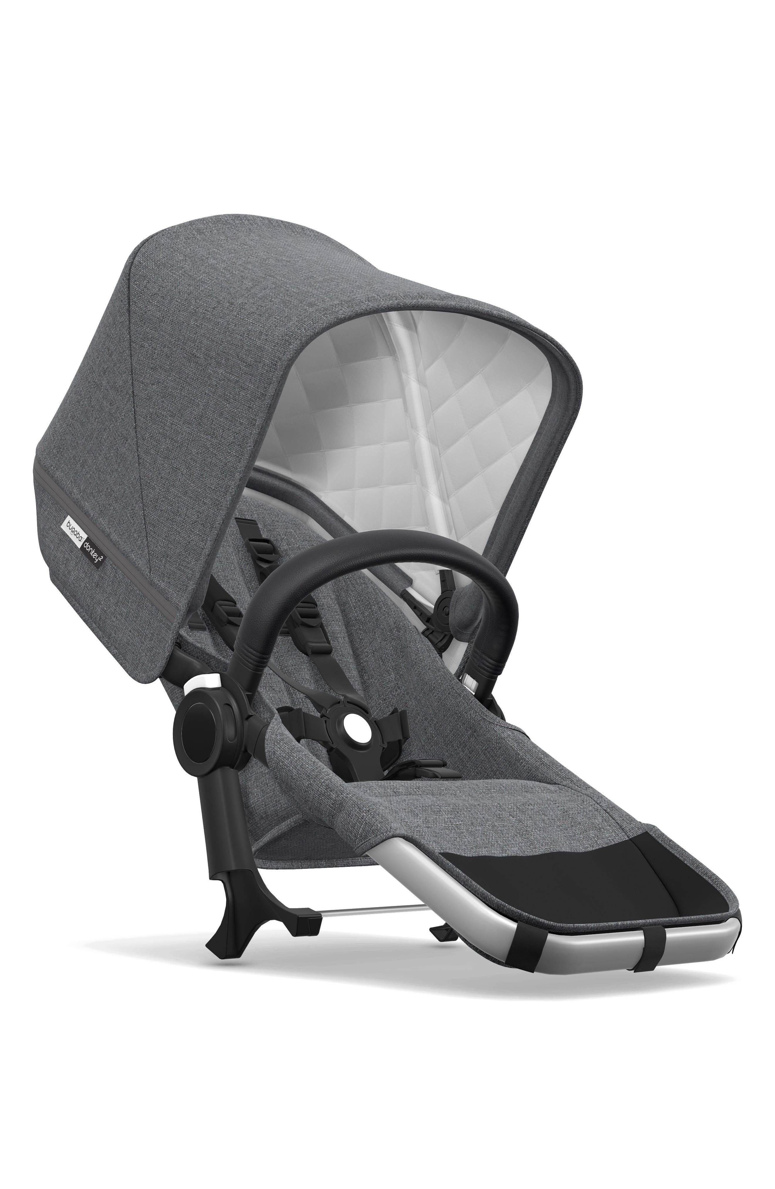 BUGABOO Frame Seat Extension for Donkey2 Stroller, Main, color, GREY MELANGE/ ALUMINUM