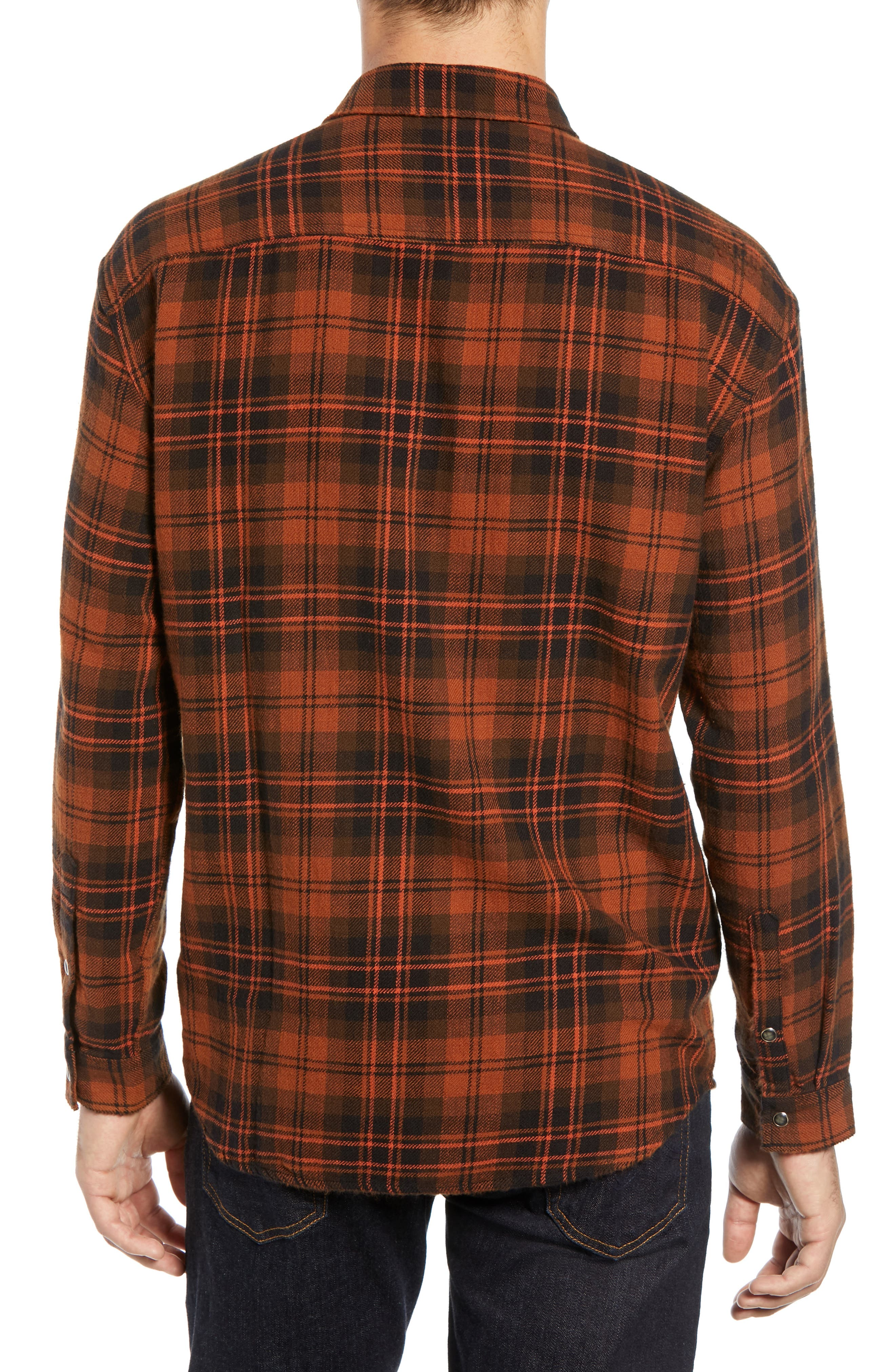 Destroyed Check Flannel Shirt,                             Alternate thumbnail 3, color,                             001