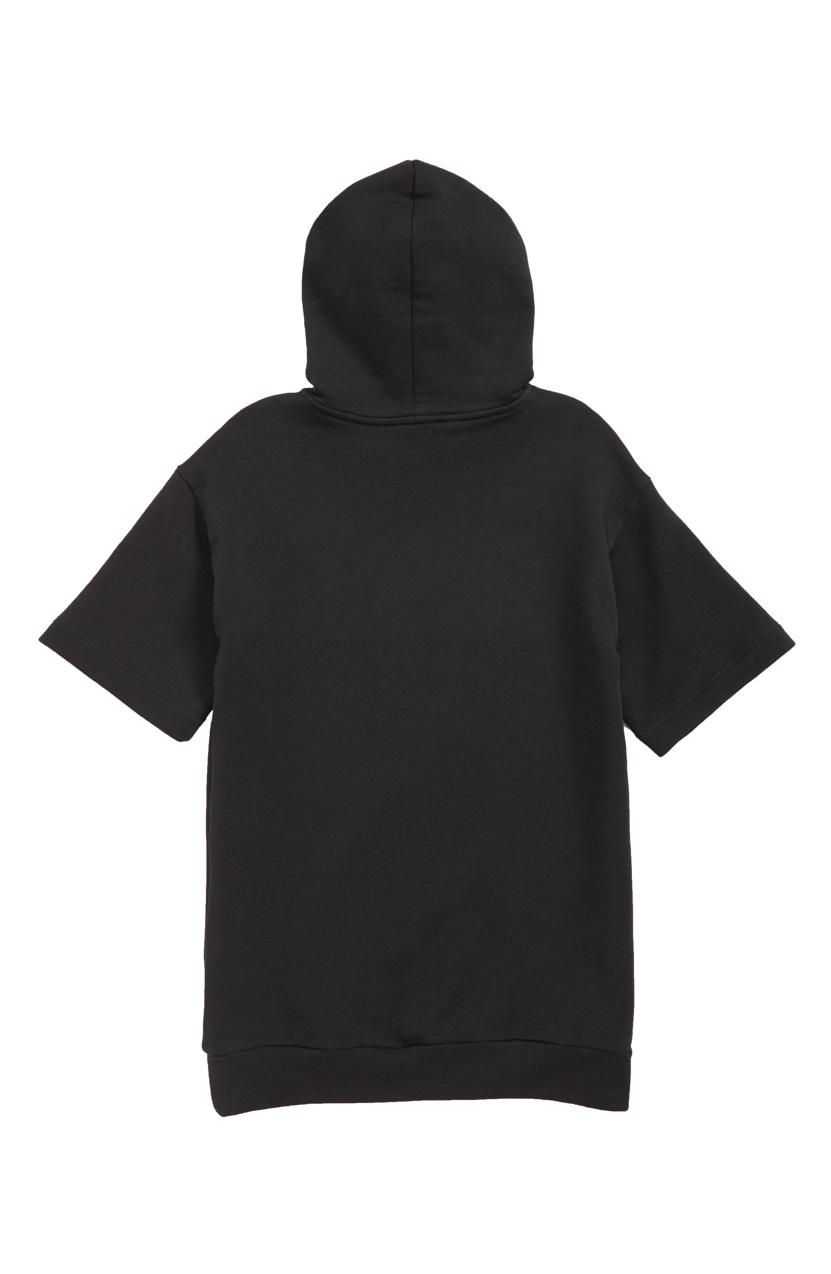 Logo Graphic Hooded Dress,                             Alternate thumbnail 2, color,                             4955 BLK