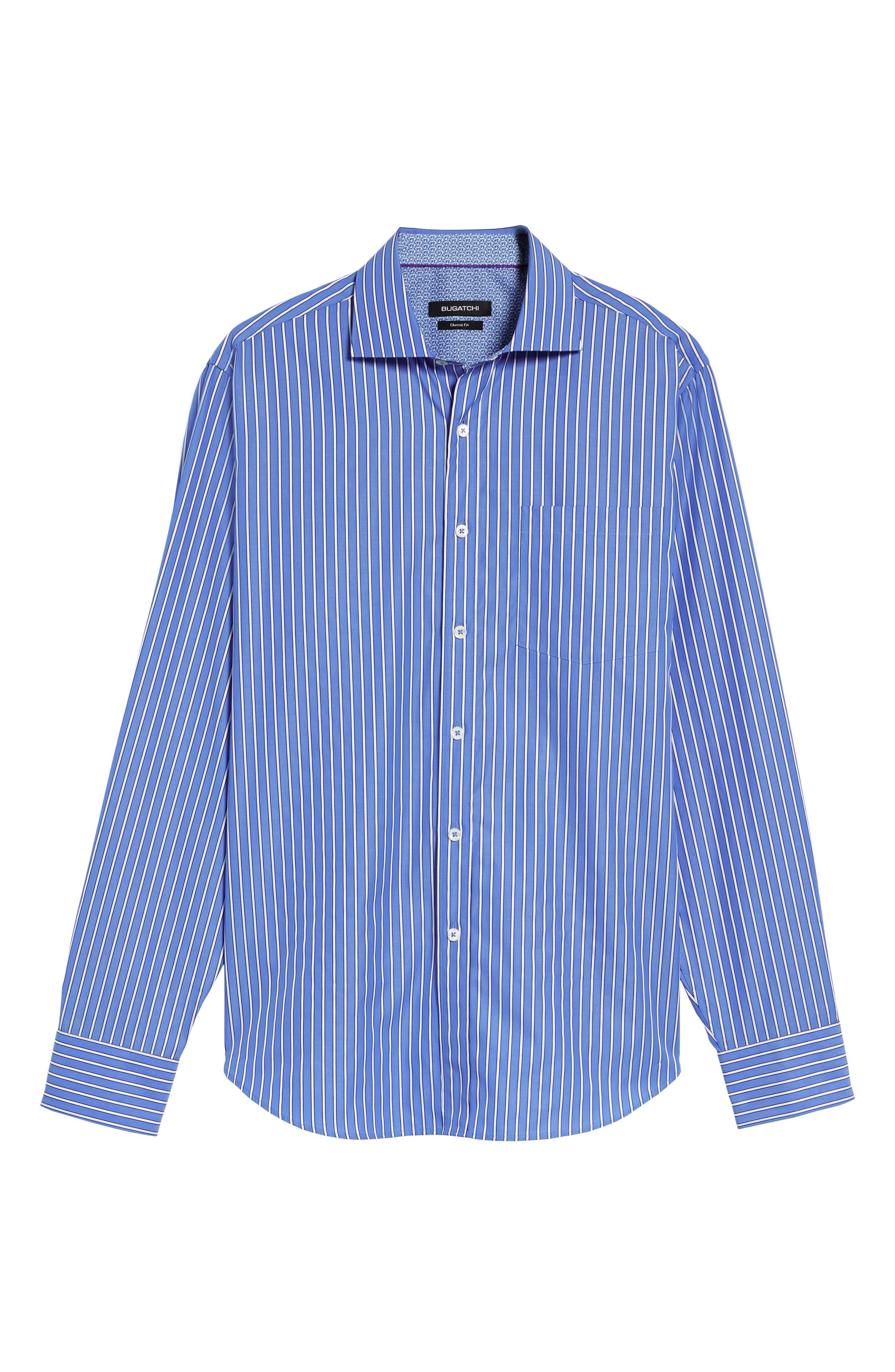 Classic Fit Stripe Sport Shirt,                             Alternate thumbnail 6, color,                             422