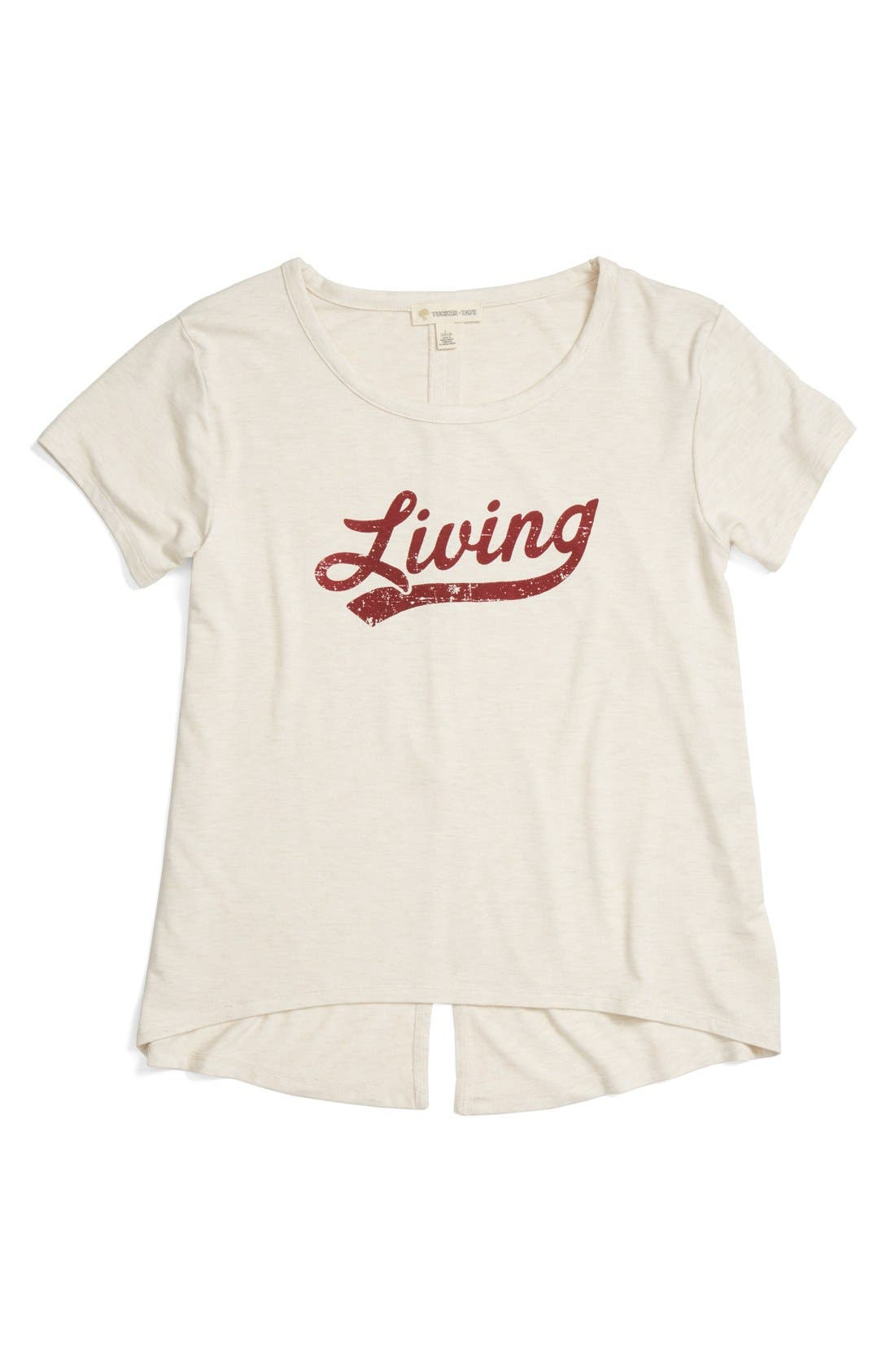 'Living' Graphic Envelope Back Tee,                             Main thumbnail 13, color,