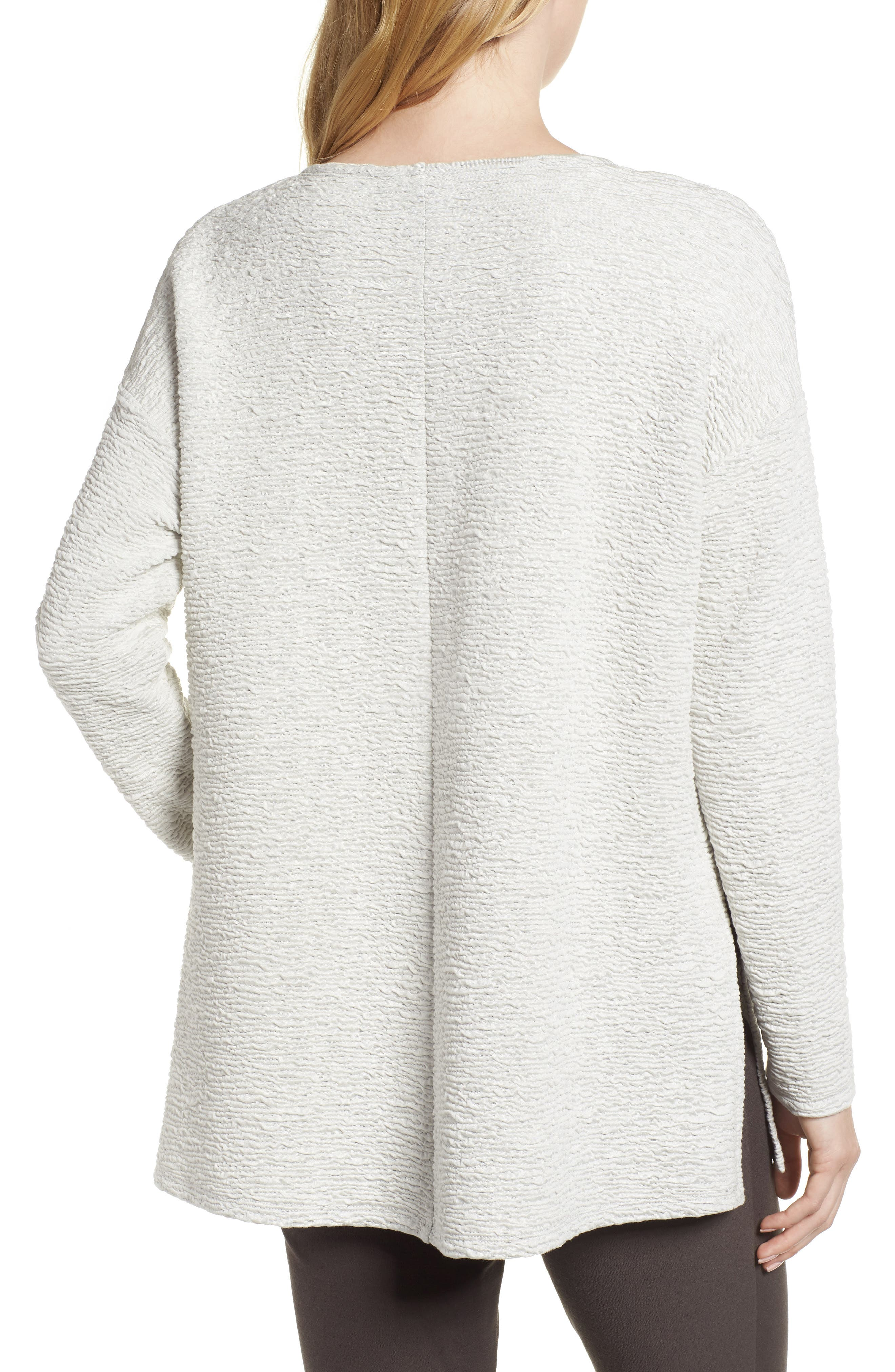 Textured Tencel<sup>®</sup> Lyocell Blend Top,                             Alternate thumbnail 2, color,                             100